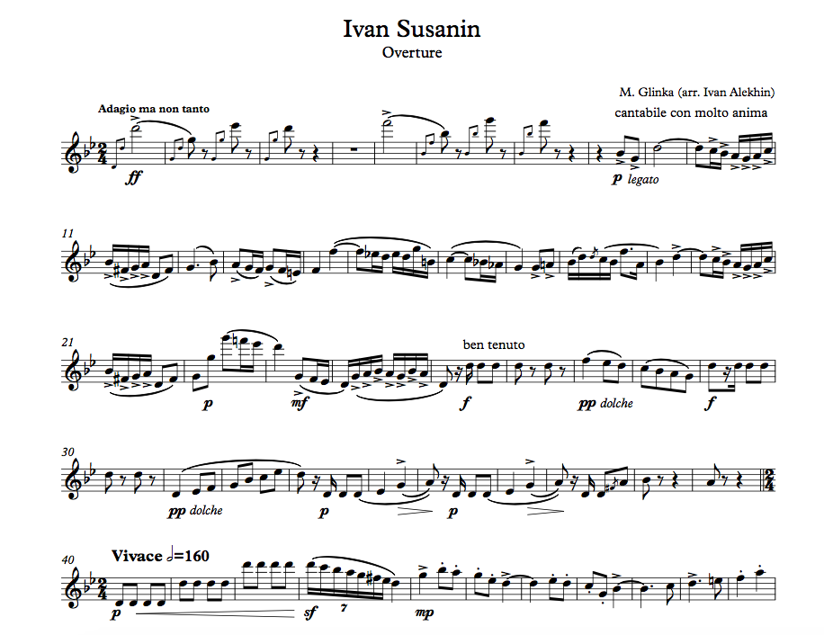 M. Glinka. Ivan Susanin Overture. (click to download!)