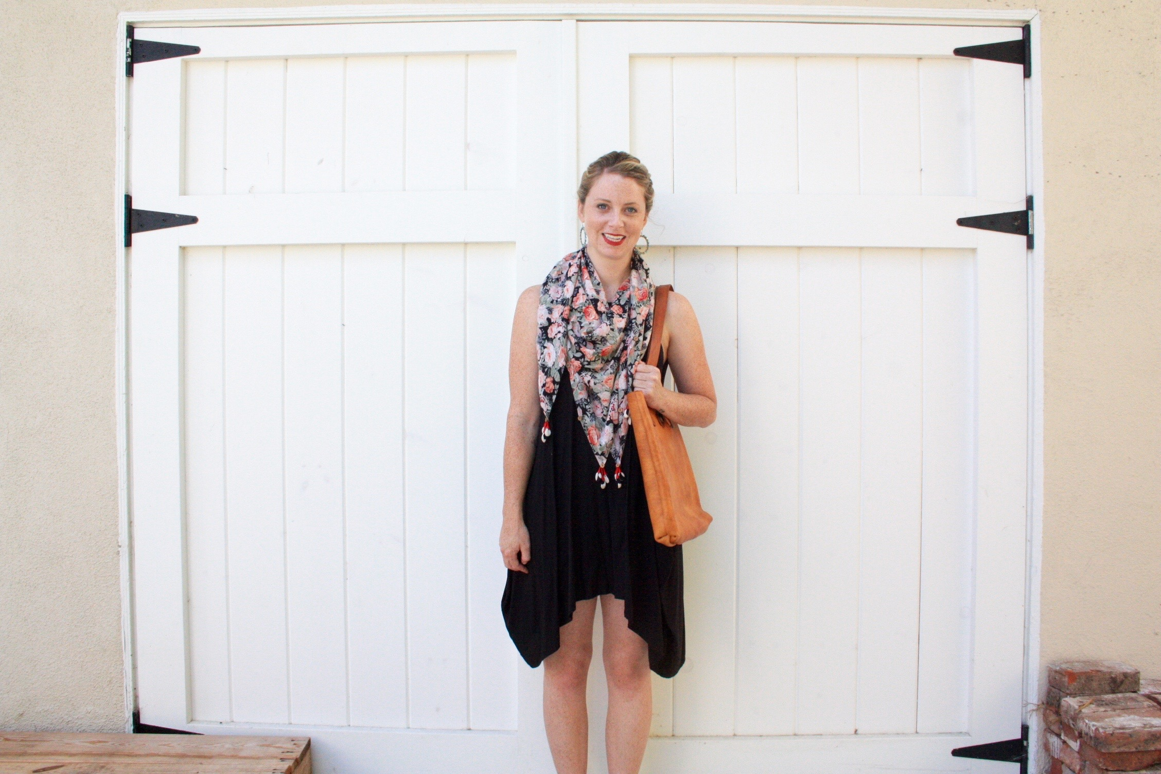 how to wear a square scarf // Habitation Co.