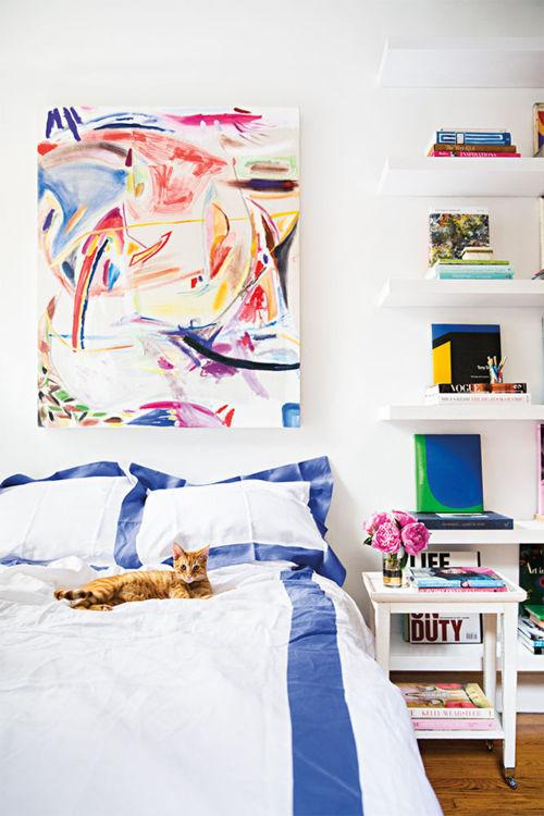 A Teeny Tiny Art Inspired Studio Apartment // Habitation Co.