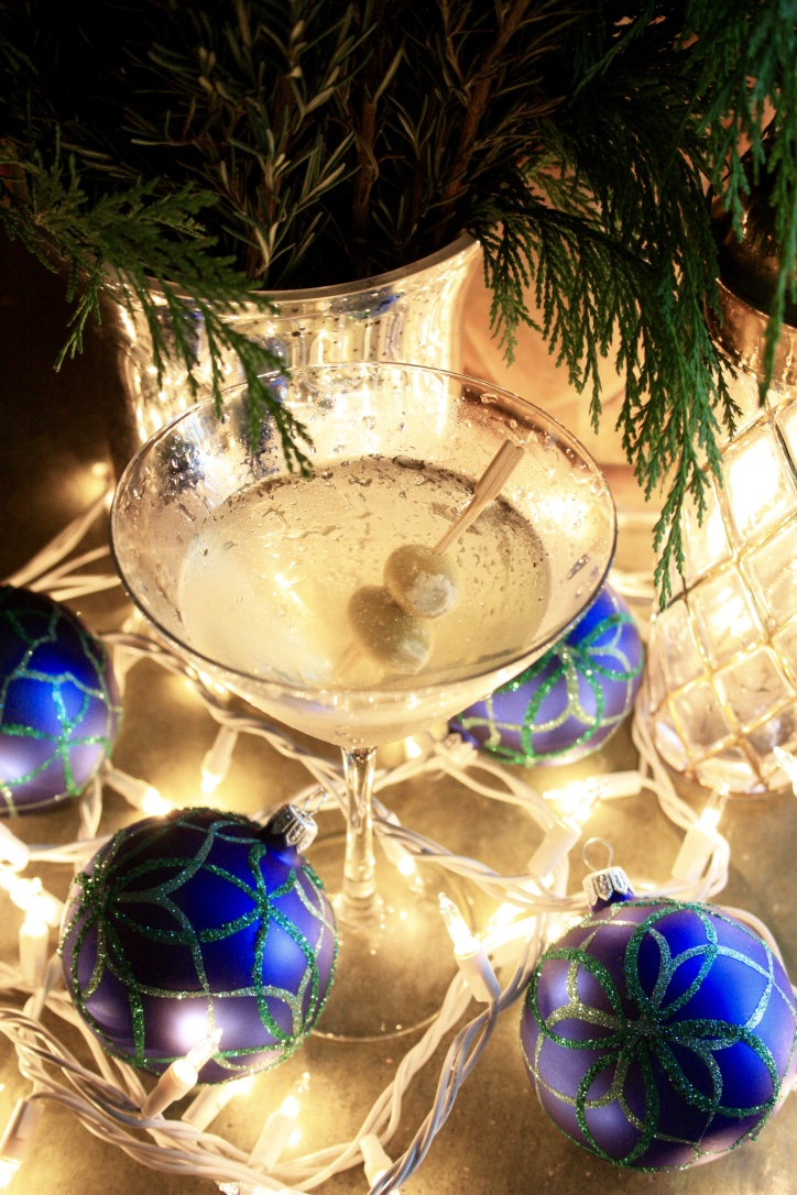 Bleu Christmas Martini // Holiday Cocktail Recipe // Habitation Co.