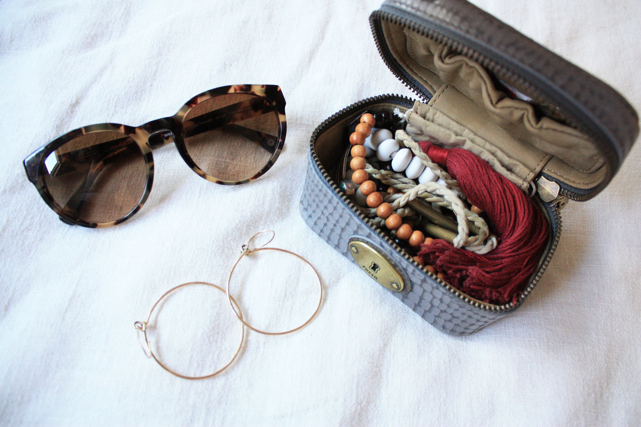 Keep jewelry or small accessories protected in a small travel pouch like  these
