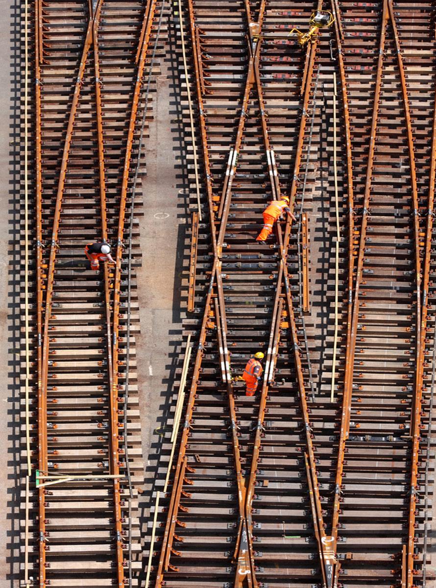 Industrial photographers UK rail.