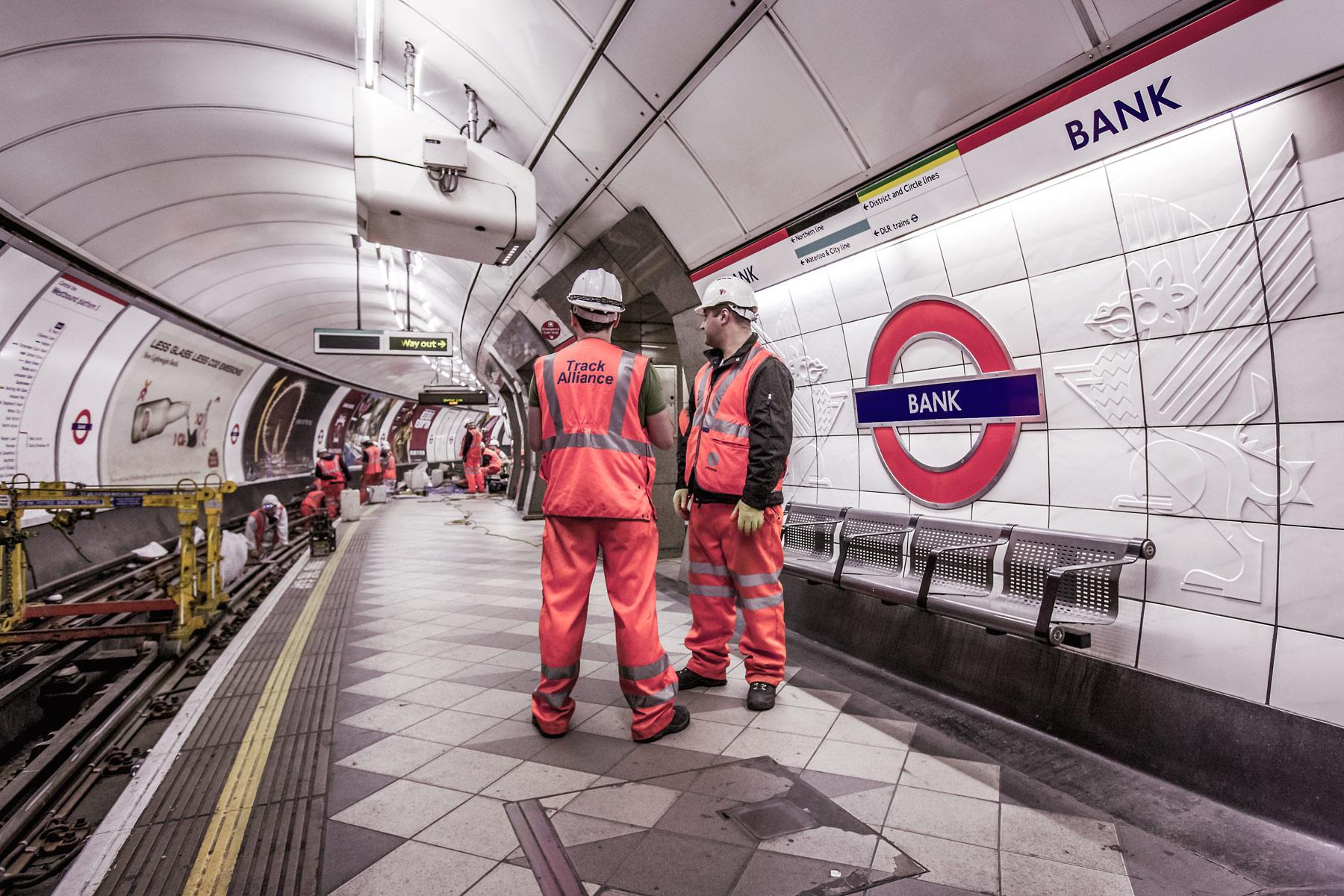 London underground photographers.