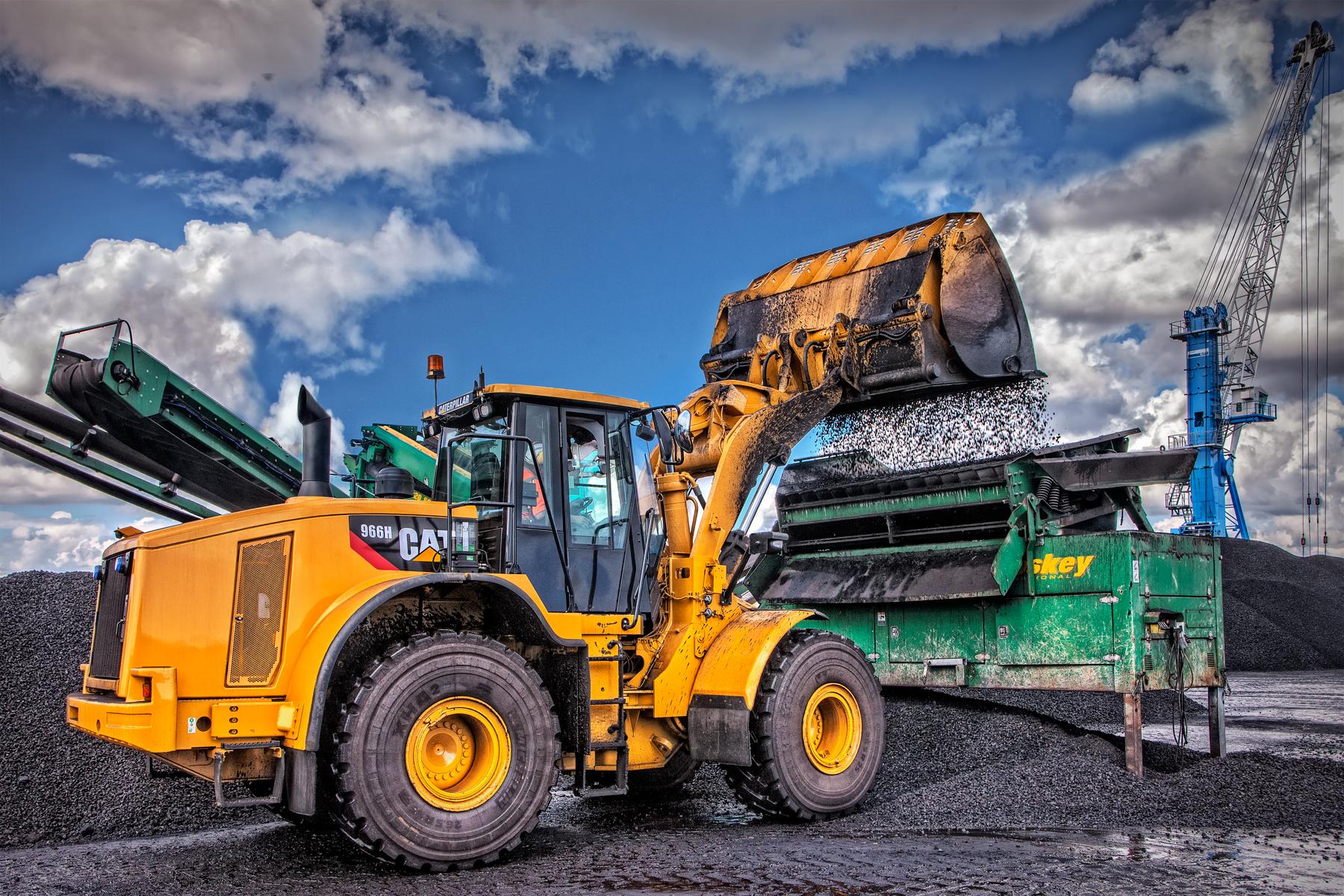 Wheeled loader UK UAE USA industrial photographer