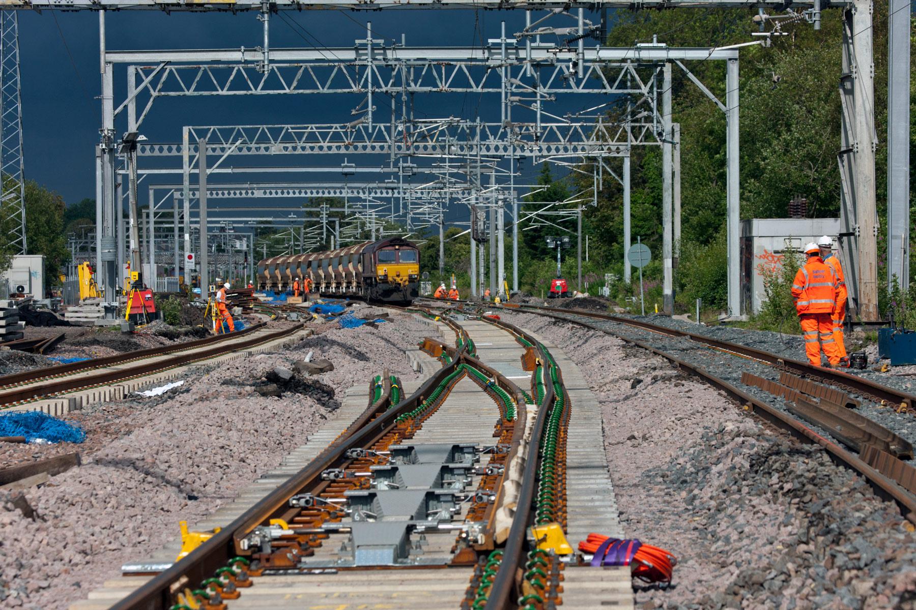 Railway Infrastructure upgrade photographers PTS.