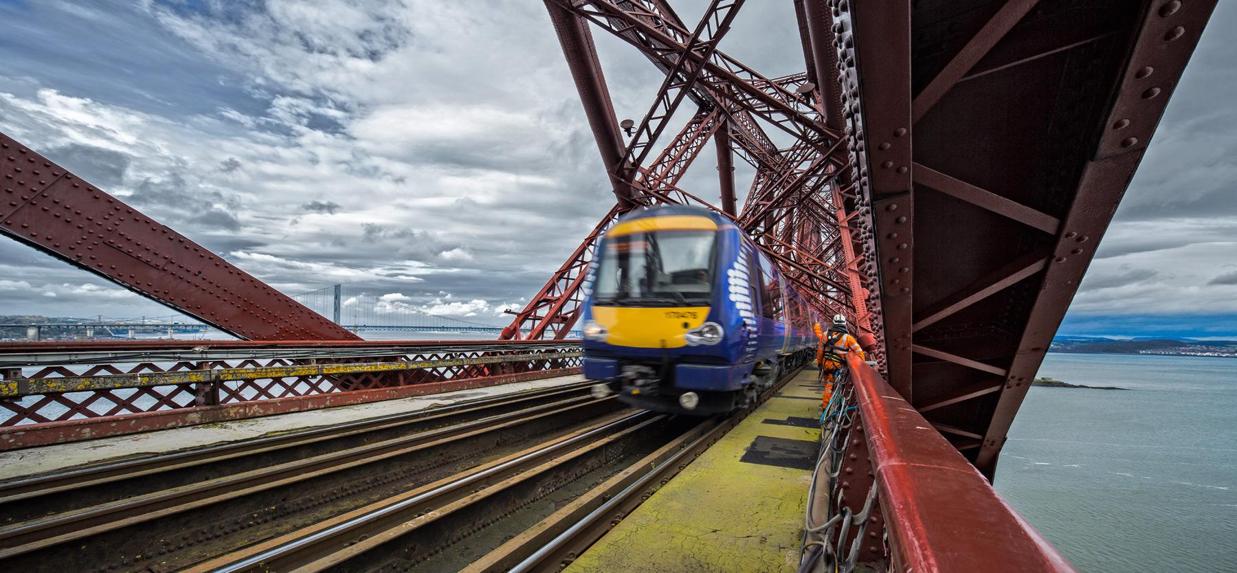 Railway Forth Bridge world heritage site.