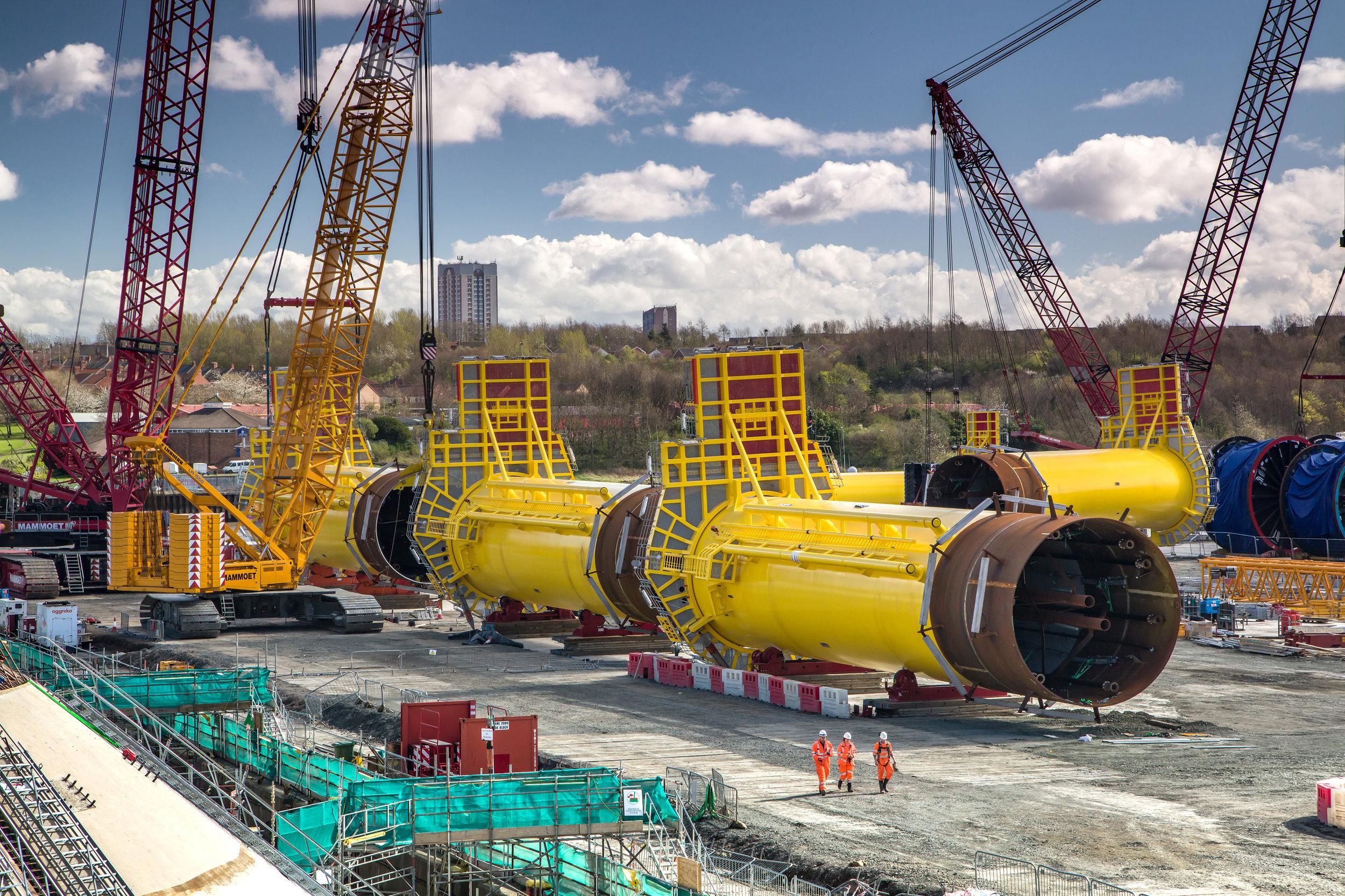 Windfarm base construction.