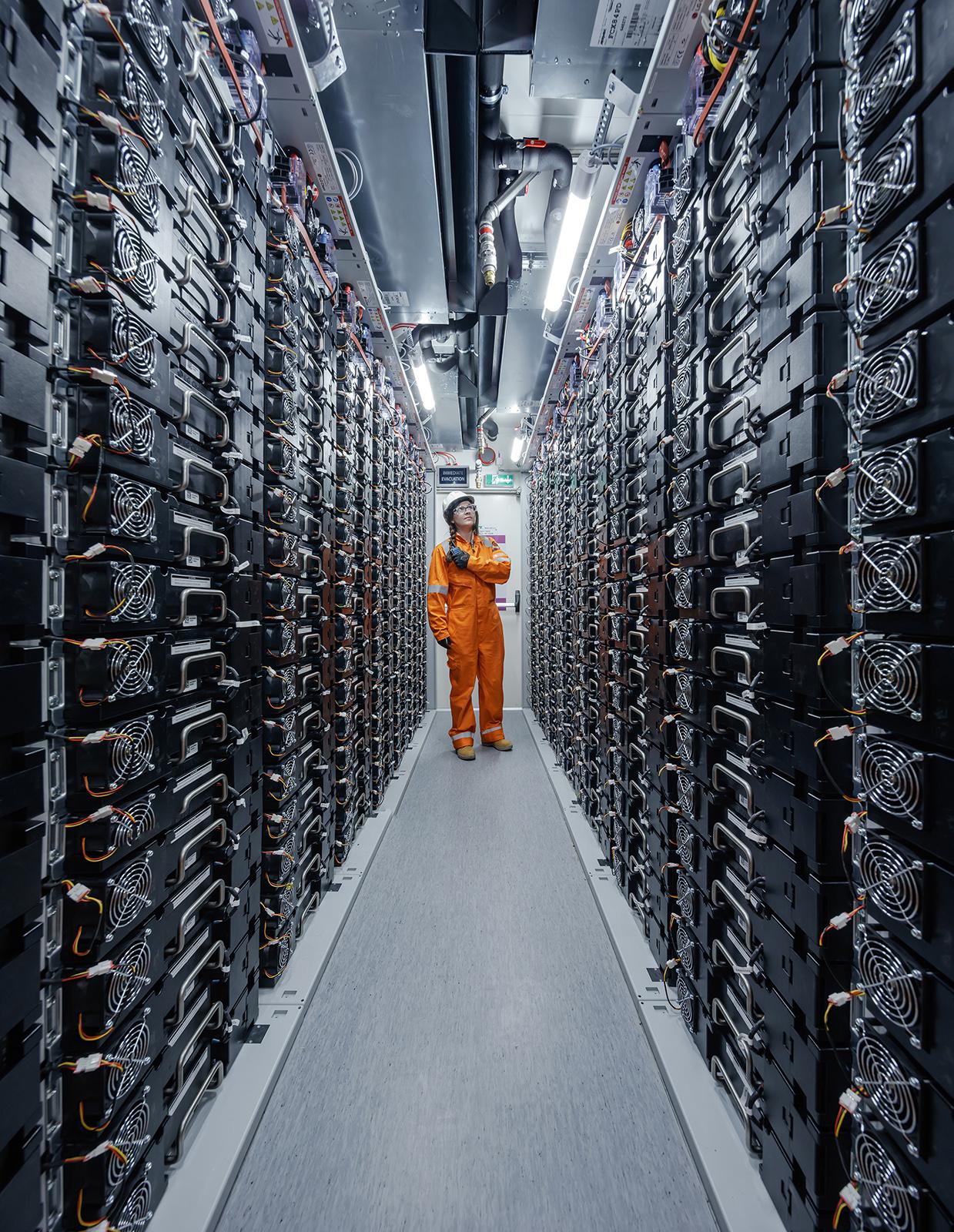 Battery storage capacity.