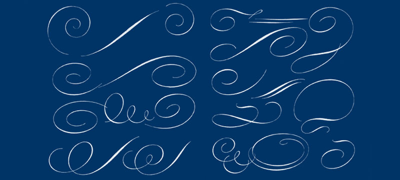 (Flourish Drawing Credit - Tommy Thompson -  Script Lettering For Artists )