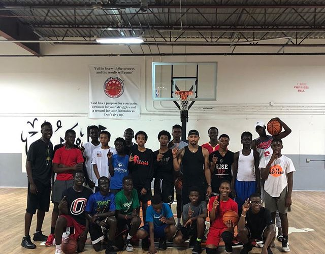 We here!! S/o to ATL and the fam @beyondbasketballtraining
