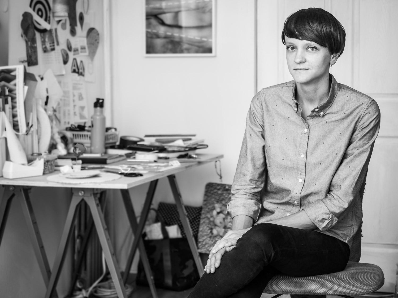 Copy of Portrait of Photographer Jennifer Grimyser in her Art Studio