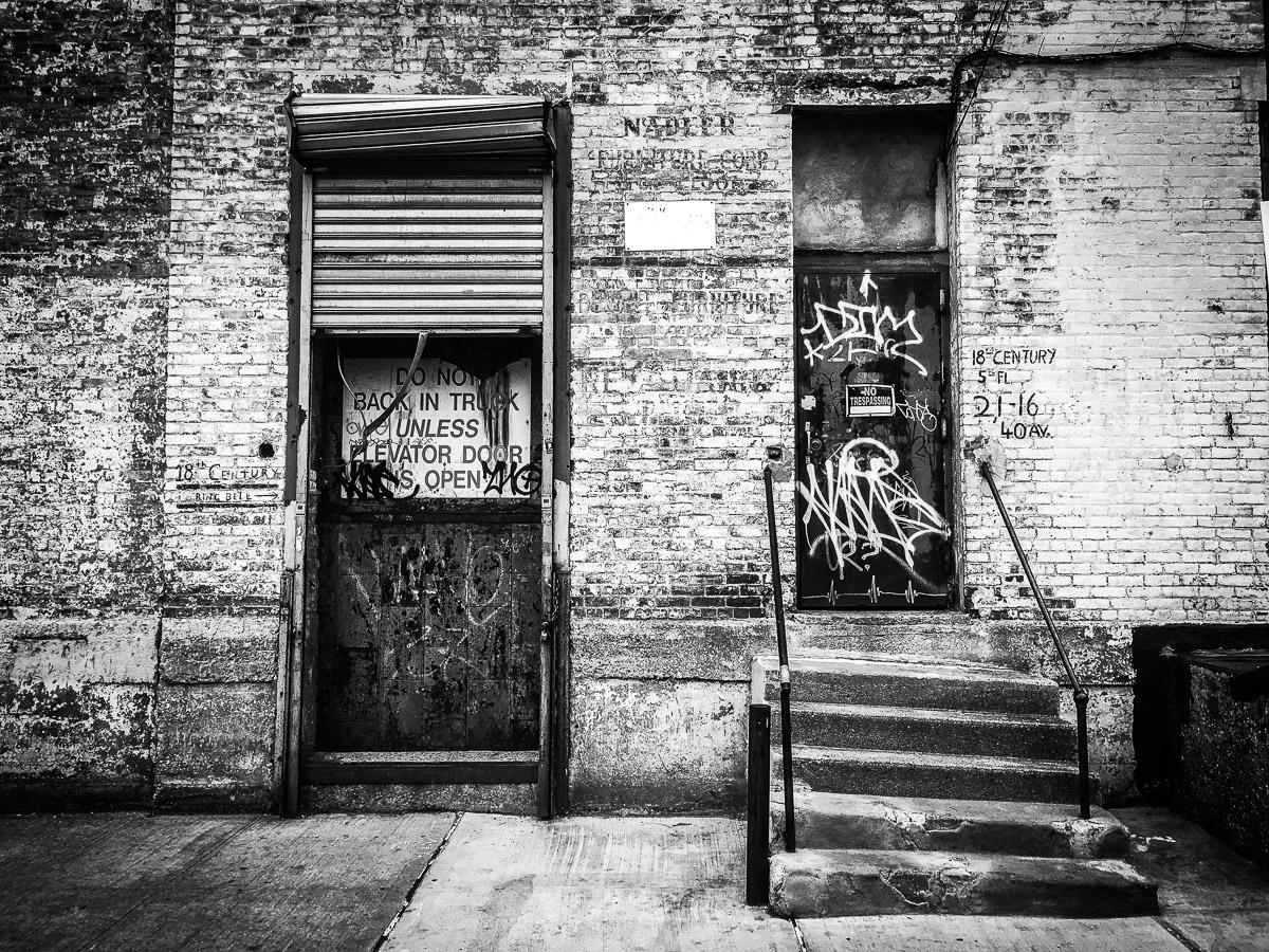 Graffiti Urban Exterior of Ellie Krakow Artist Studio Building in Queens Neesh NYC