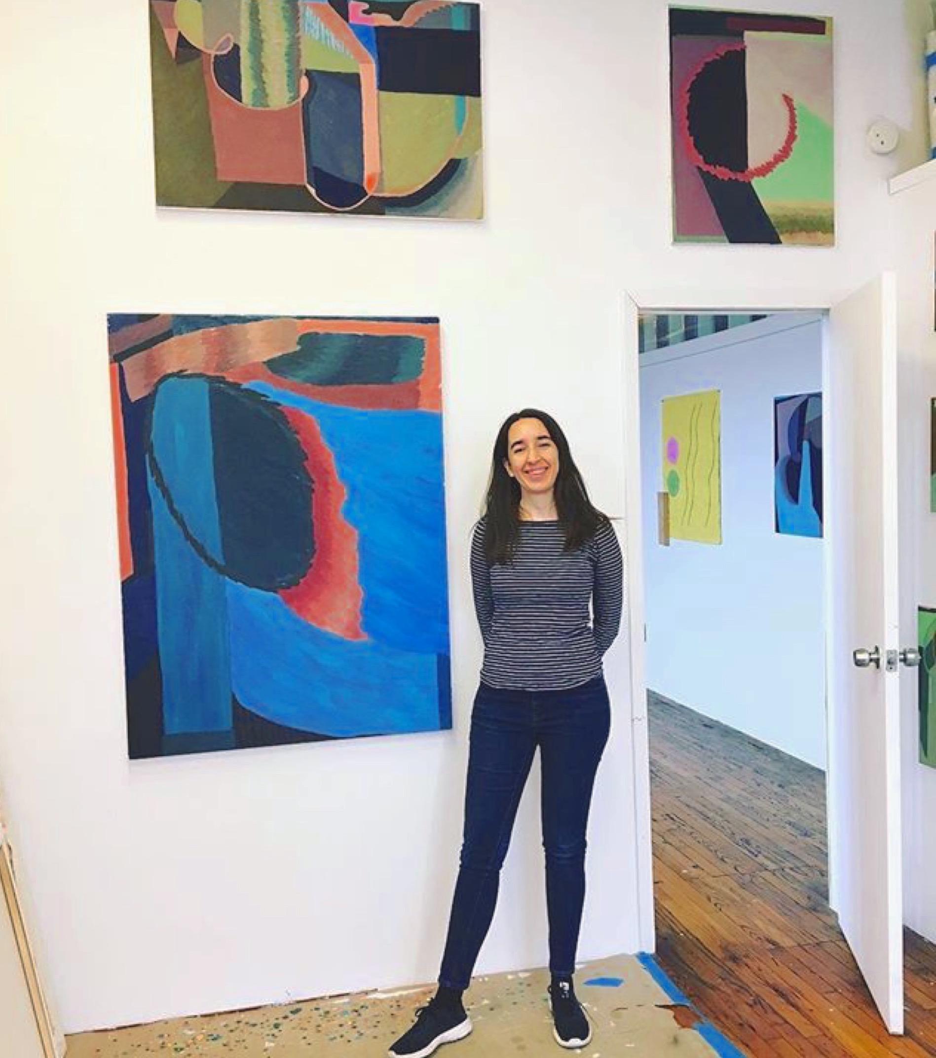 Our gracious host :) Liz Ainslie in her studio at 2016 Bushwick Open Studios
