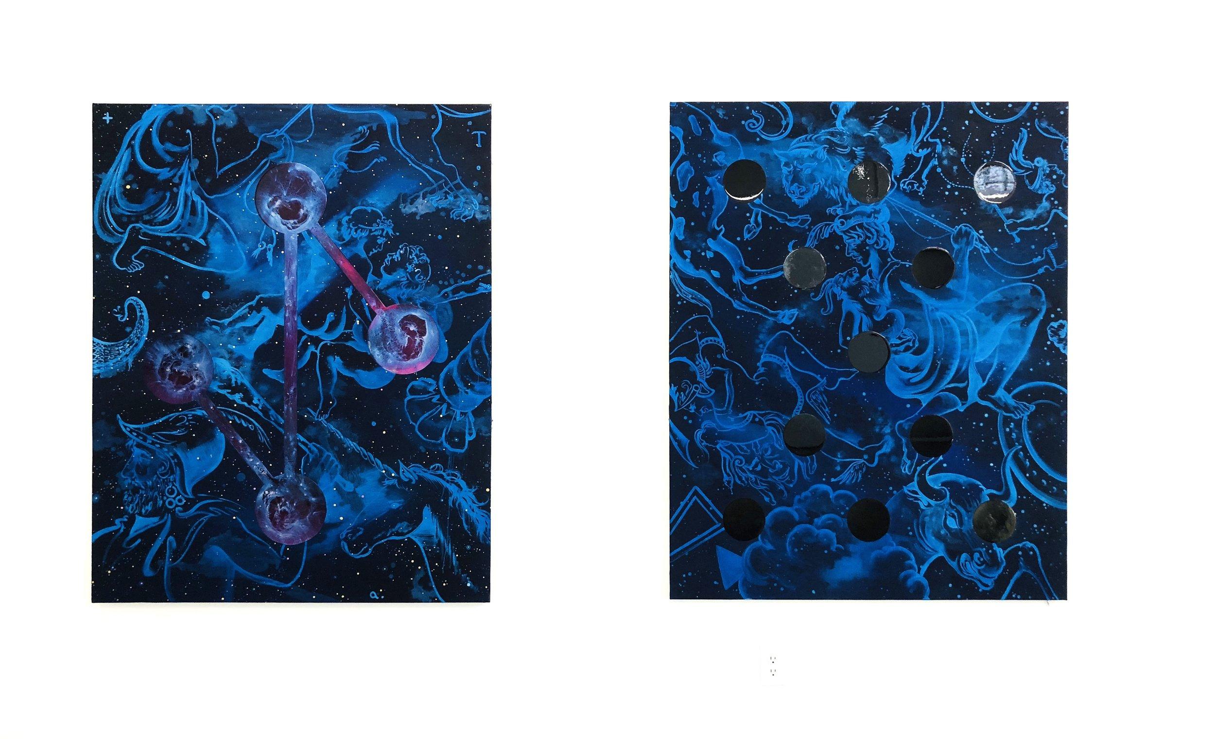 Andy Cross resin paintings