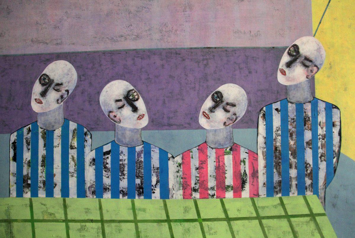 Rashwan Abdelbaki, Last Supper…First Wall (detail), 2017, Acrylic On Canvas