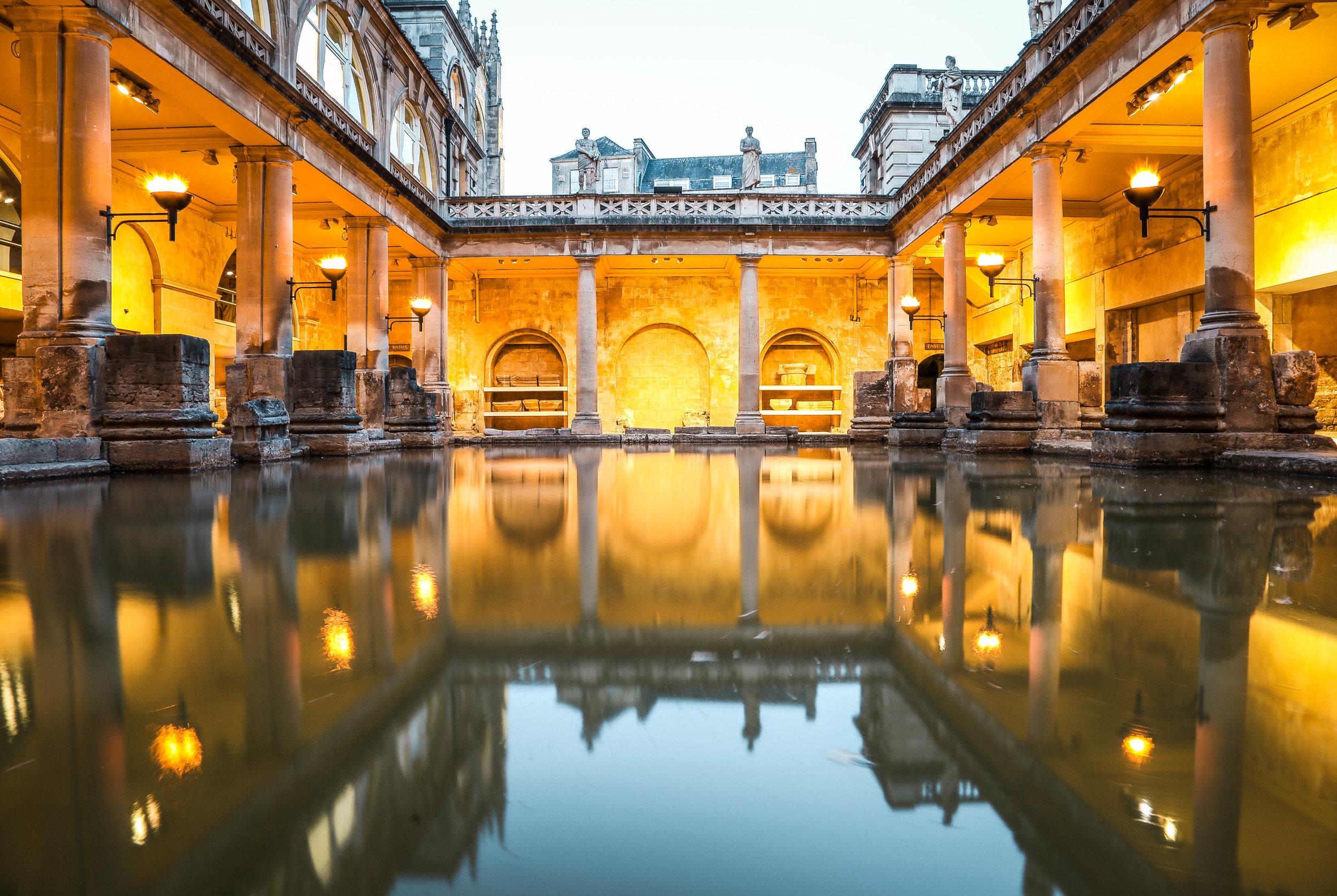The Roman Baths  Bath UK