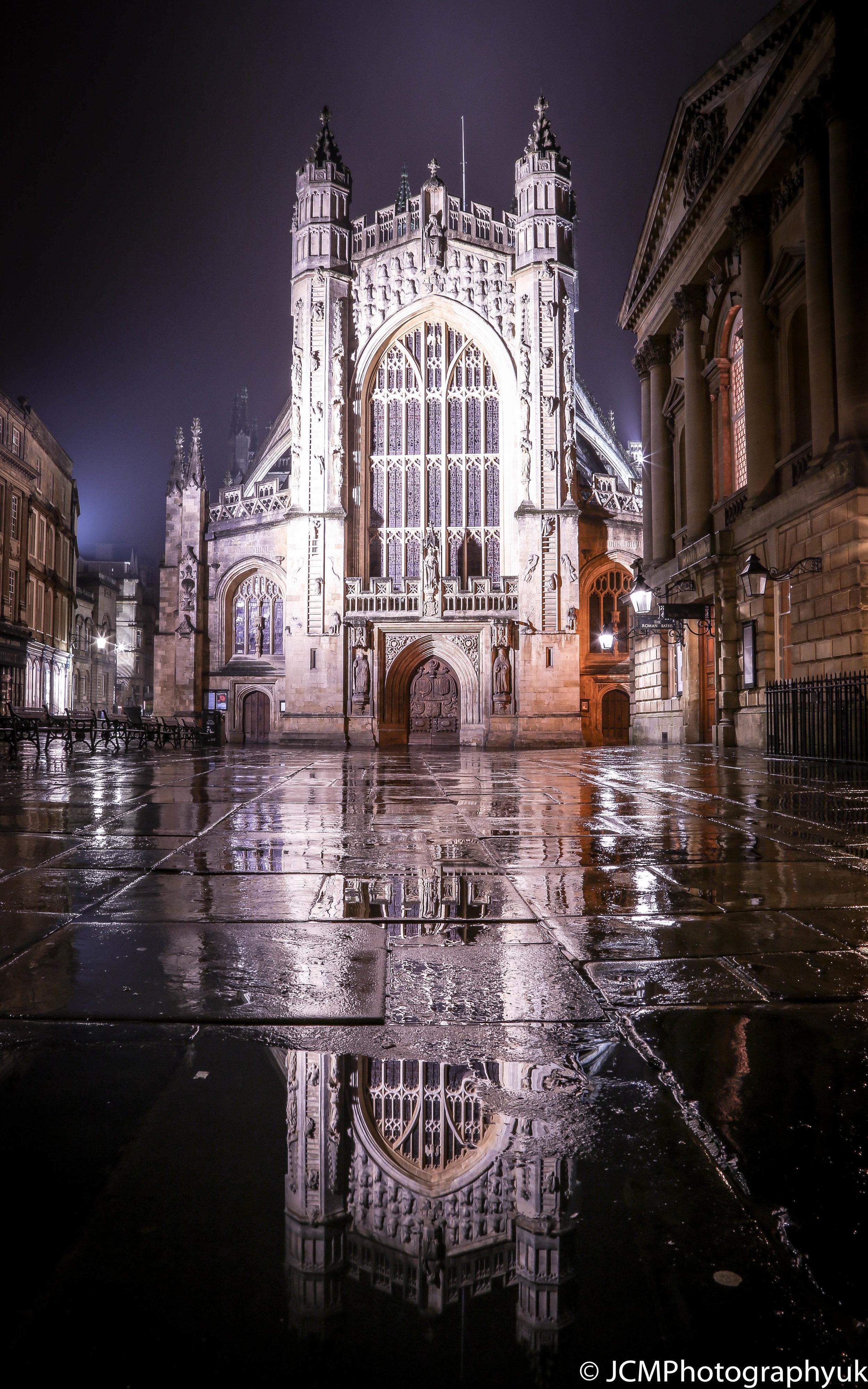 Abbey reflections  Bath UK