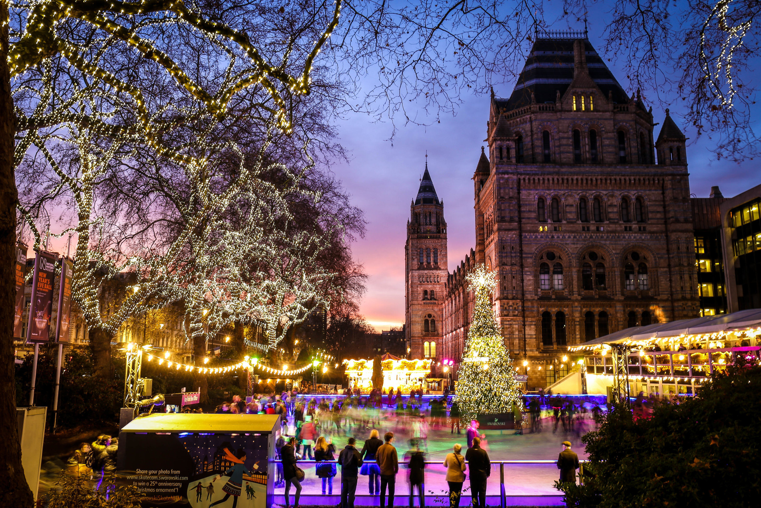 Christmas under the lights  London UK