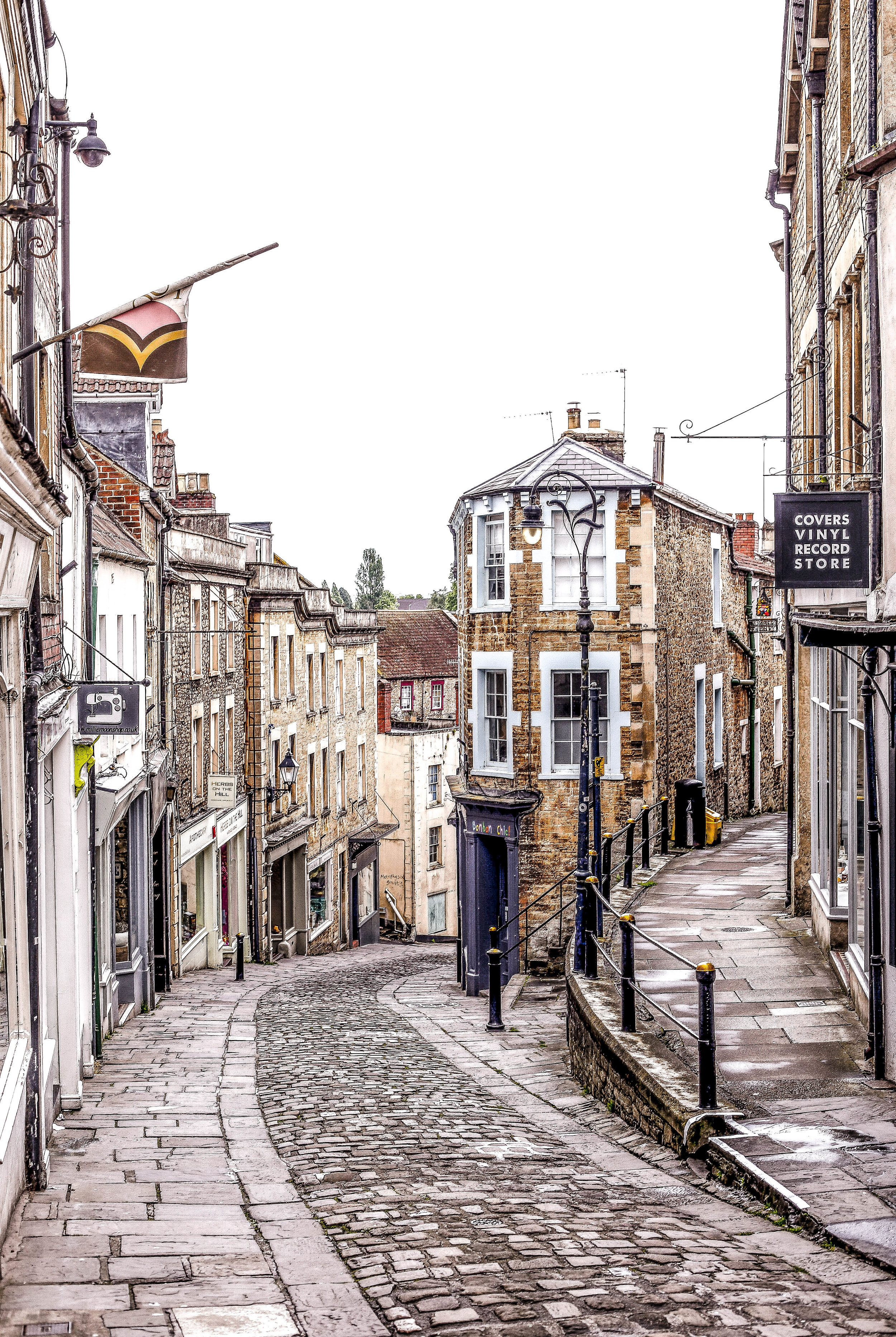Down the cobbles  Frome UK