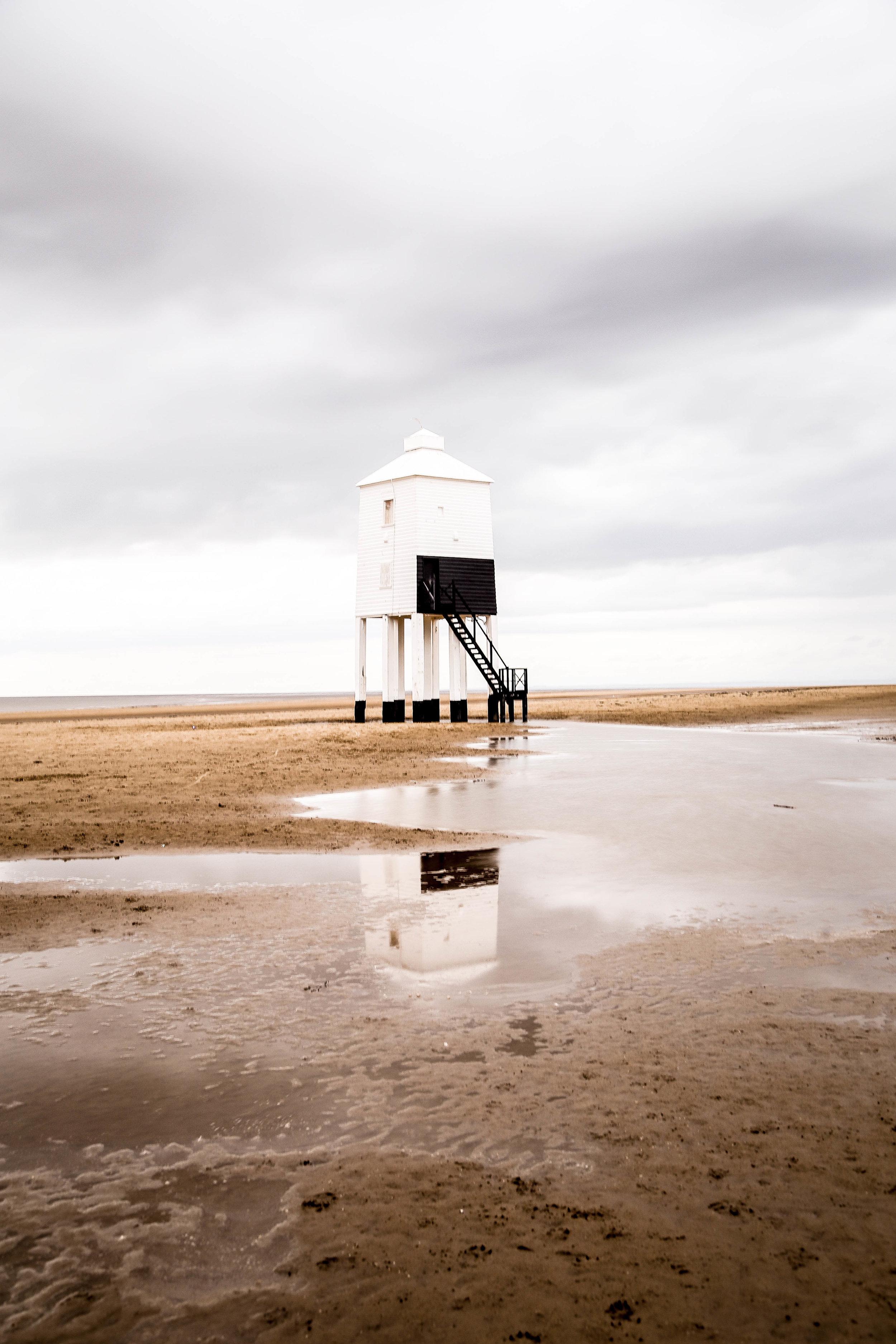 Low tide  Burnham-on-sea UK