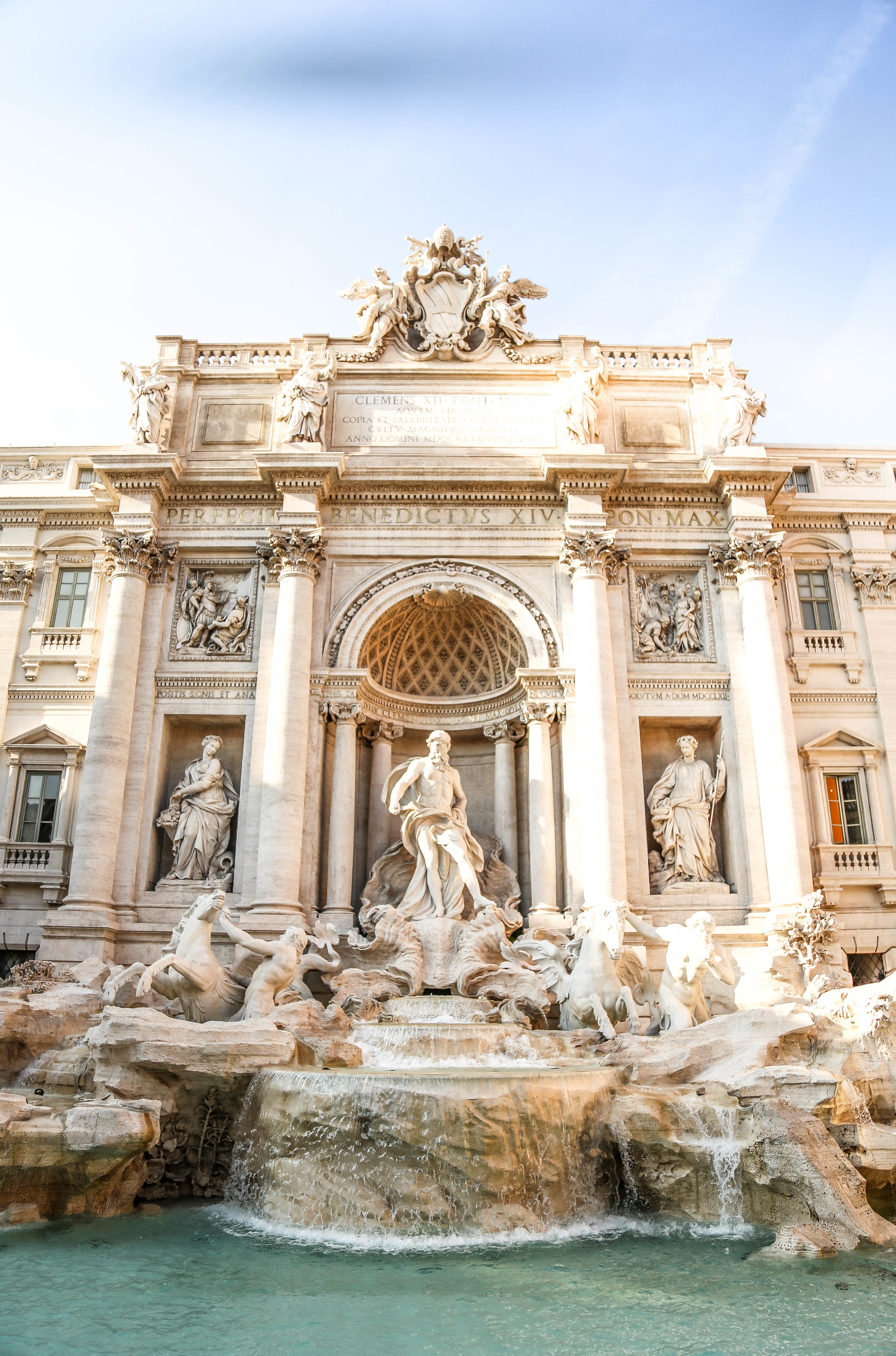 Travelling to the Trevi  Rome Italy