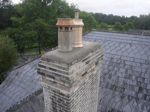Reinstalled the capping an fitted decorative flues.