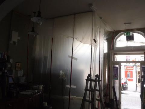 We employ a dust containment system to minimise the impact on the room.