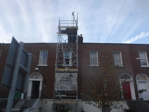 action chimneys scaffolding for chimney repair
