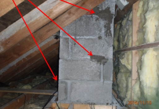 Existing open joints pointed