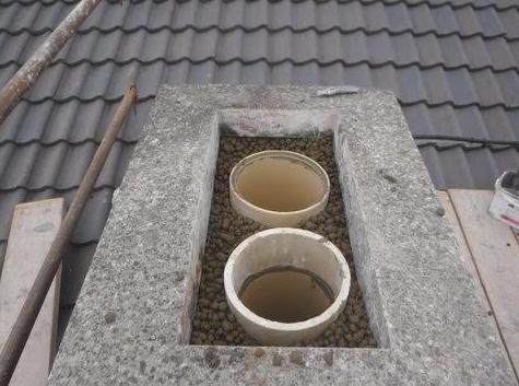 Flues and insulation medium complete