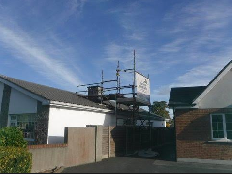 Scaffolding erected to the highest industry standards.
