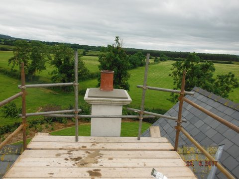 Chimney capping in place