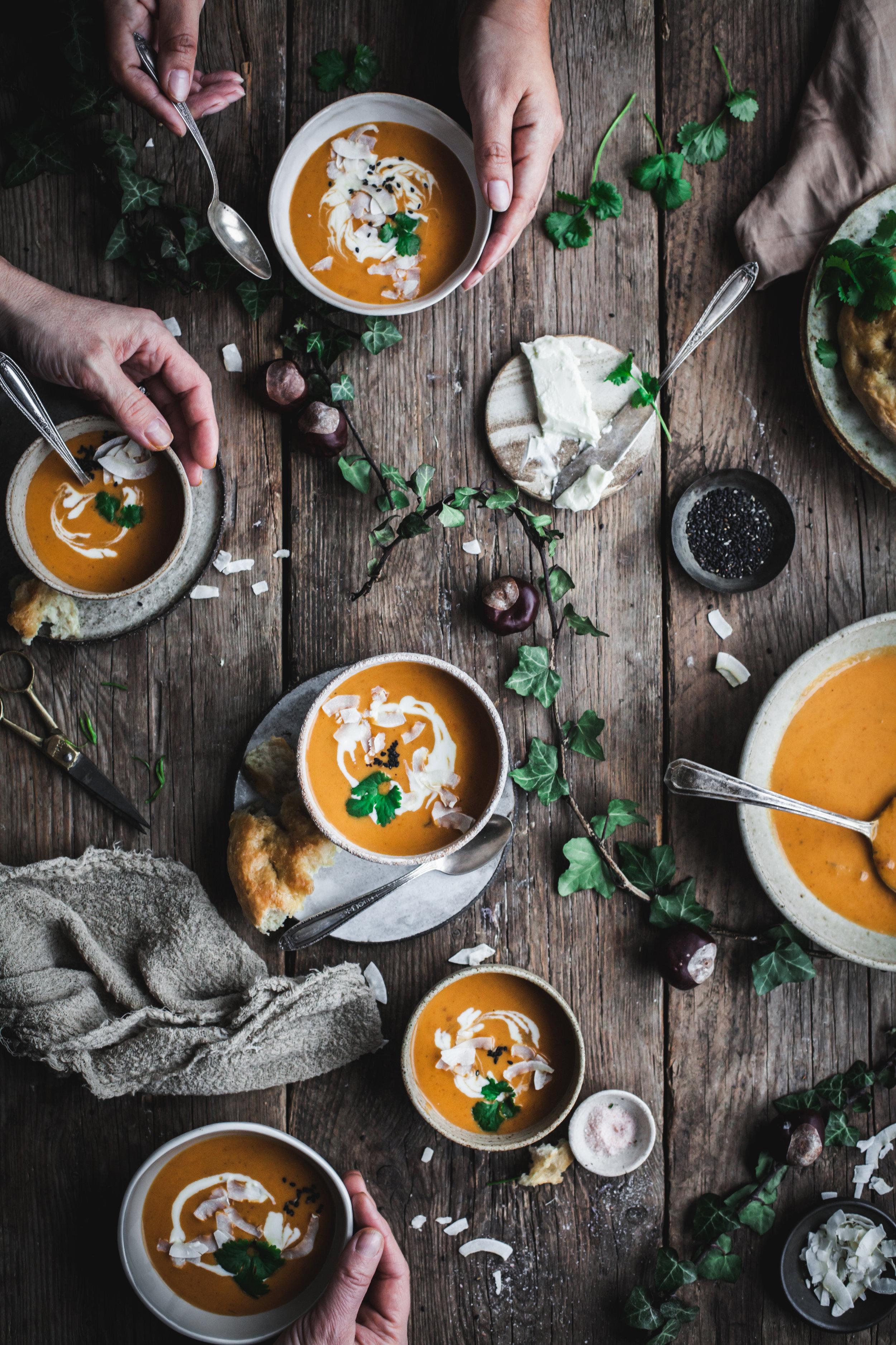 pumpkin and coriander soup