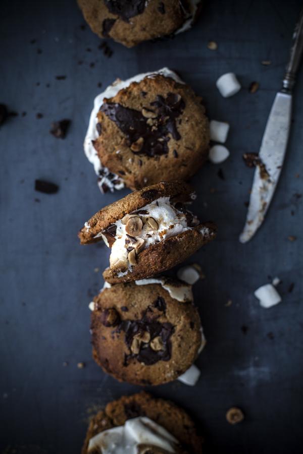 chocolate cips cookies s'mores #vegan