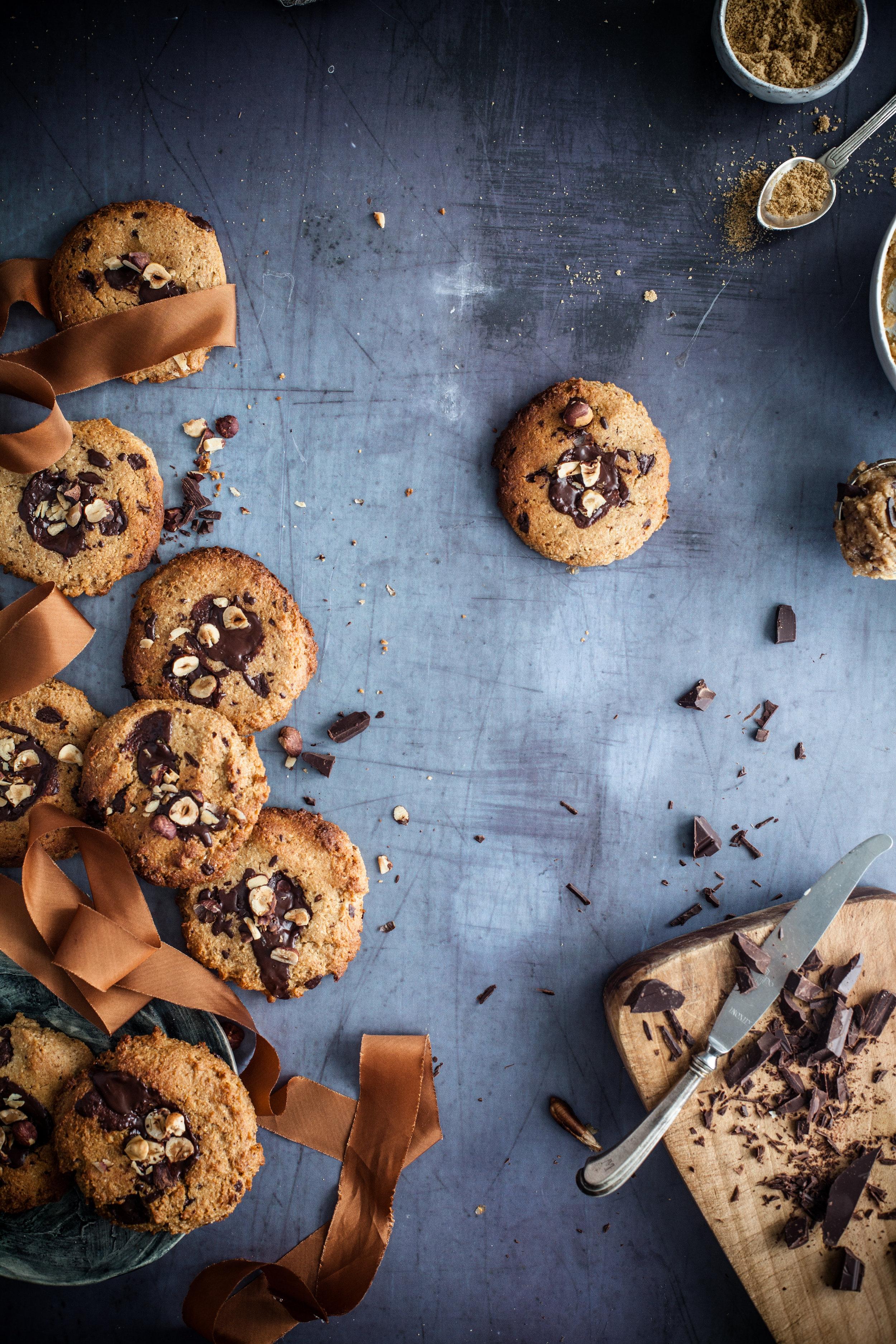 chocolate chip cookie s'mores #vegan