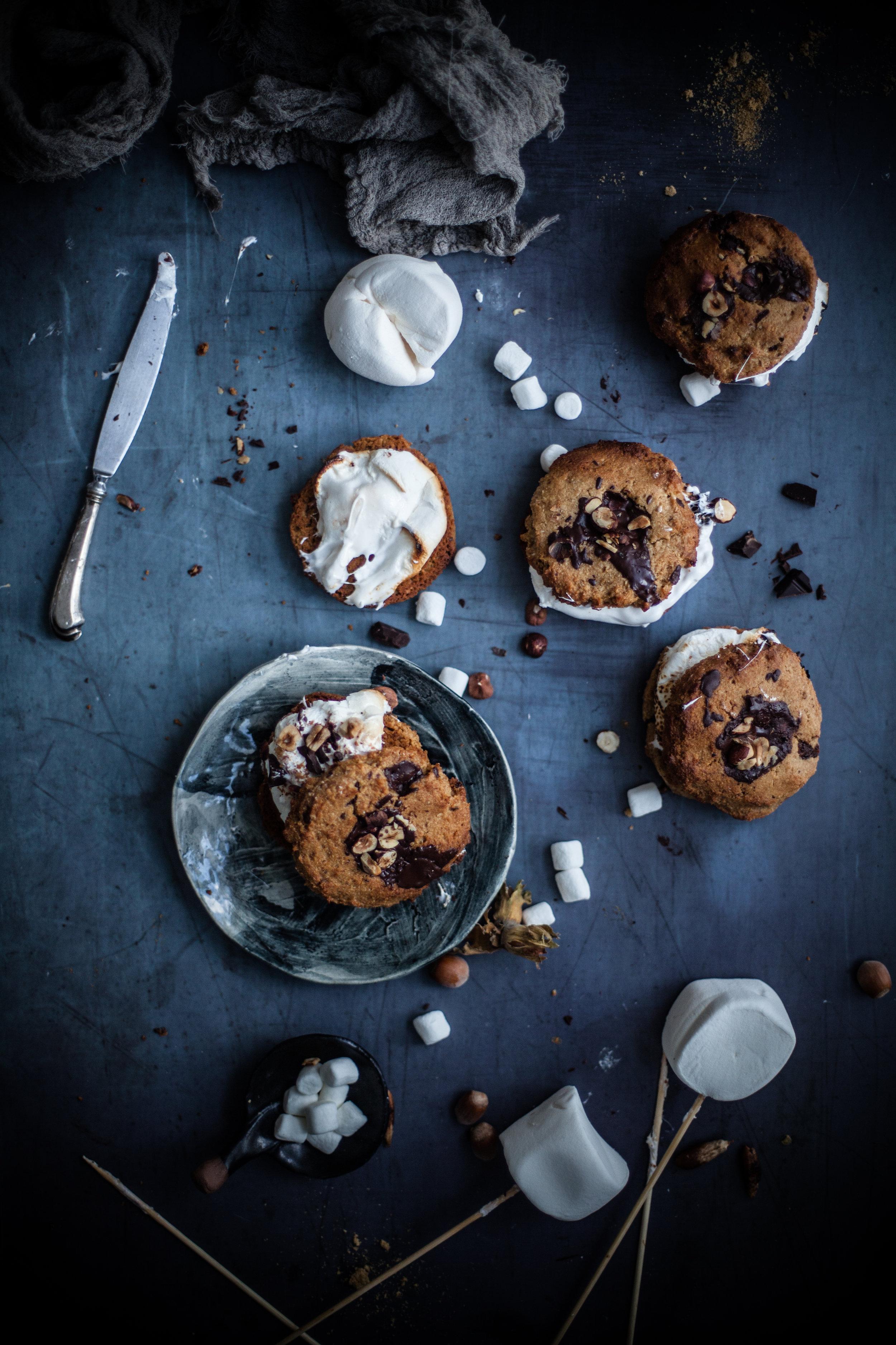 chocolate chips cookie s'mores #vegan #glutenfree