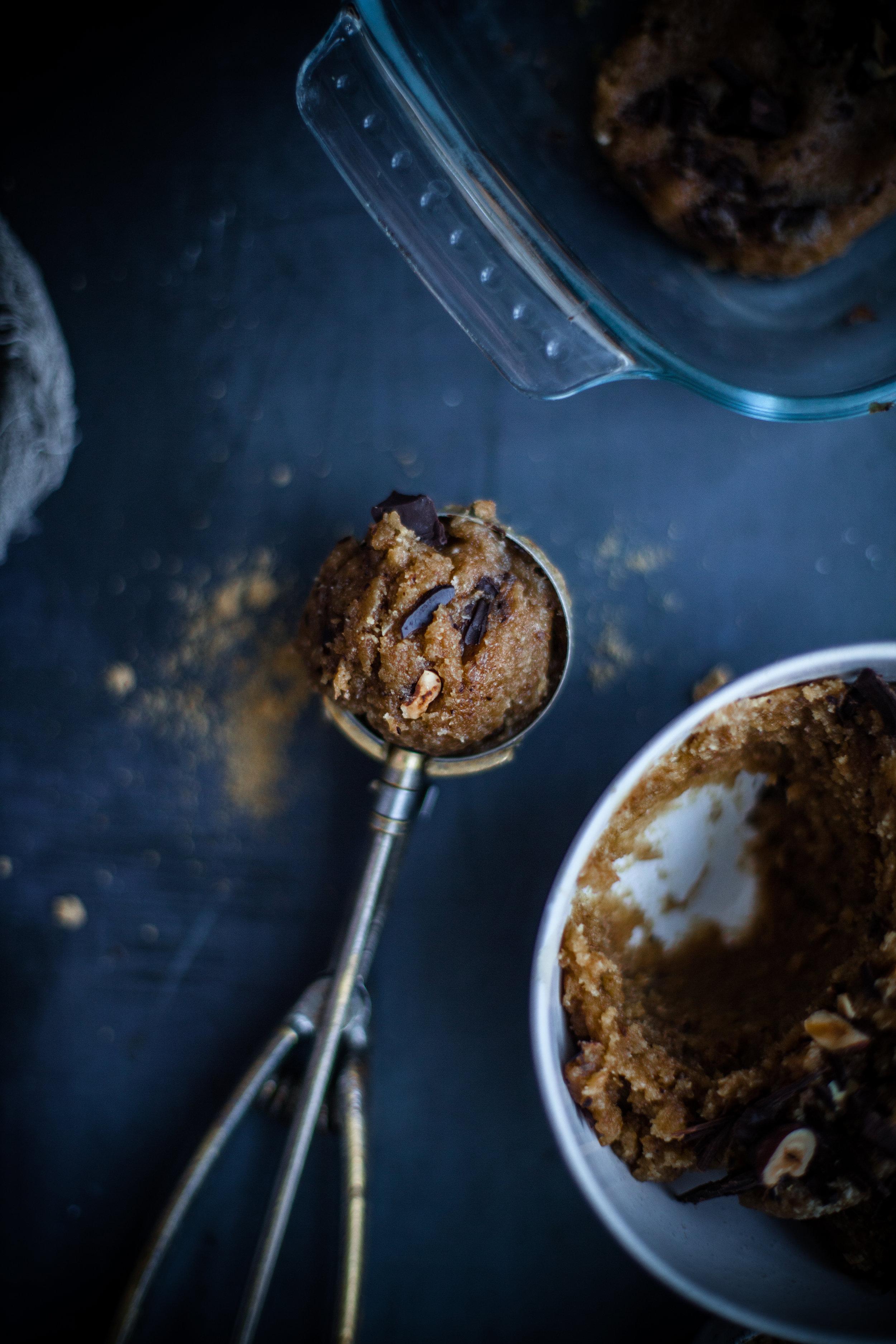 gooey chocolate chips cookies #vegan #sugarfree