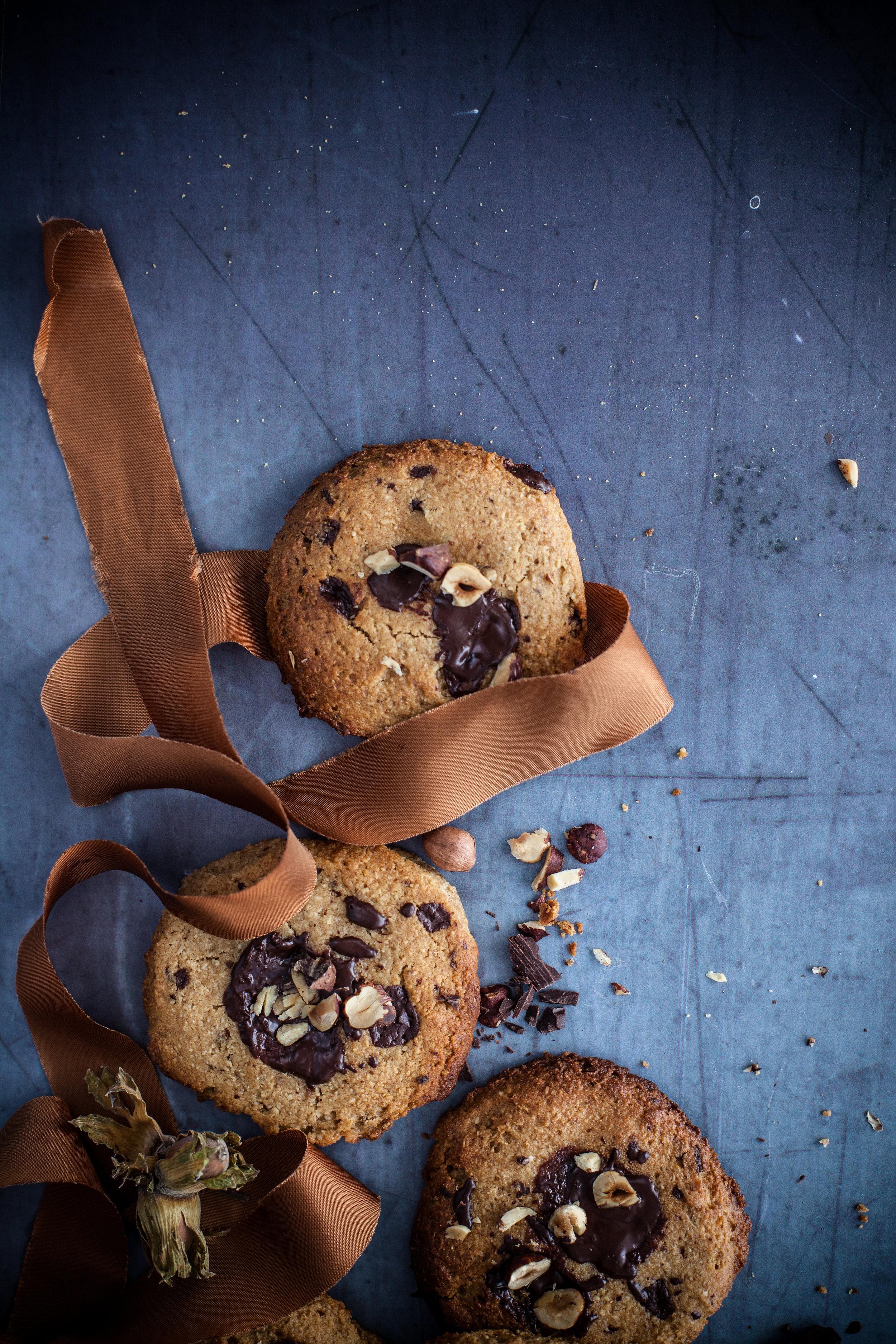gooey chocolate chips cookies #vegan #glutenfree