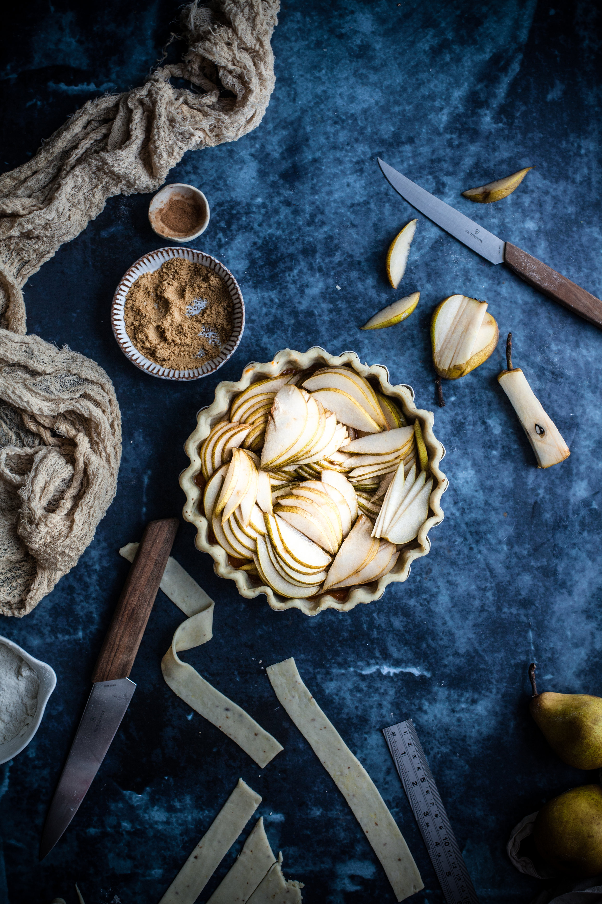 spiced pear tarts