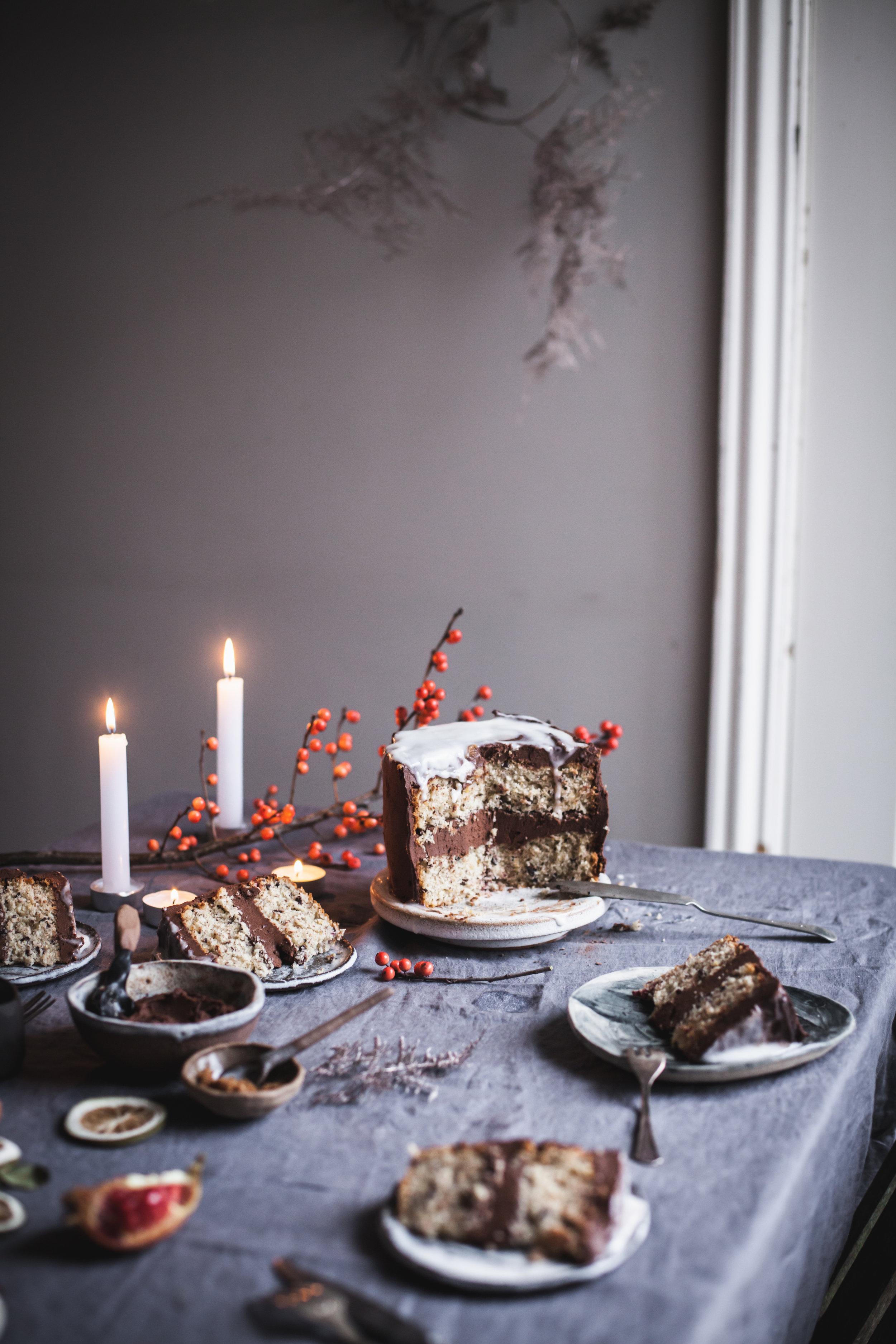 Clementine Scented Triple Chocolate Cake #vegan