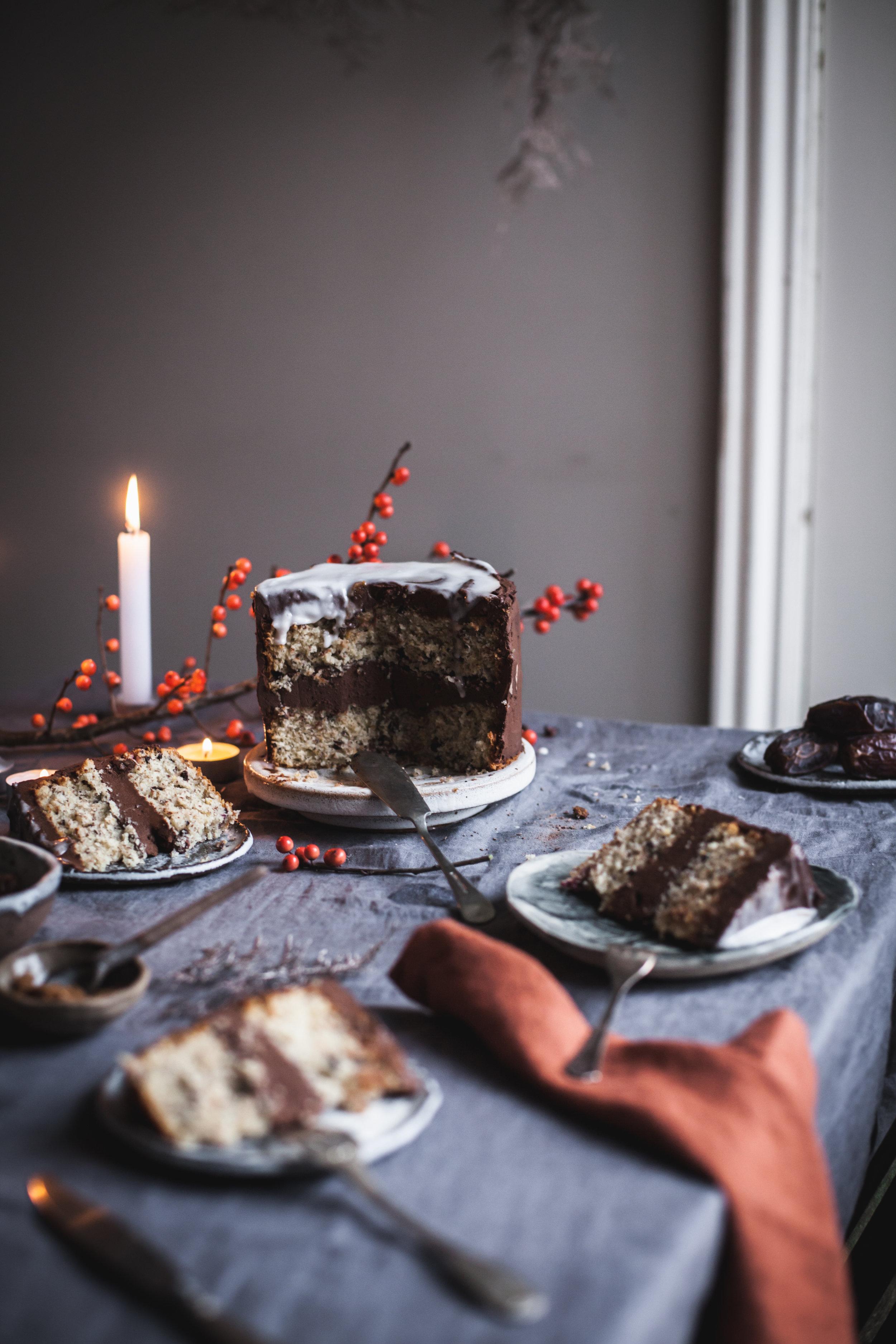 Clementine Triple Chocolate Cake #vegan