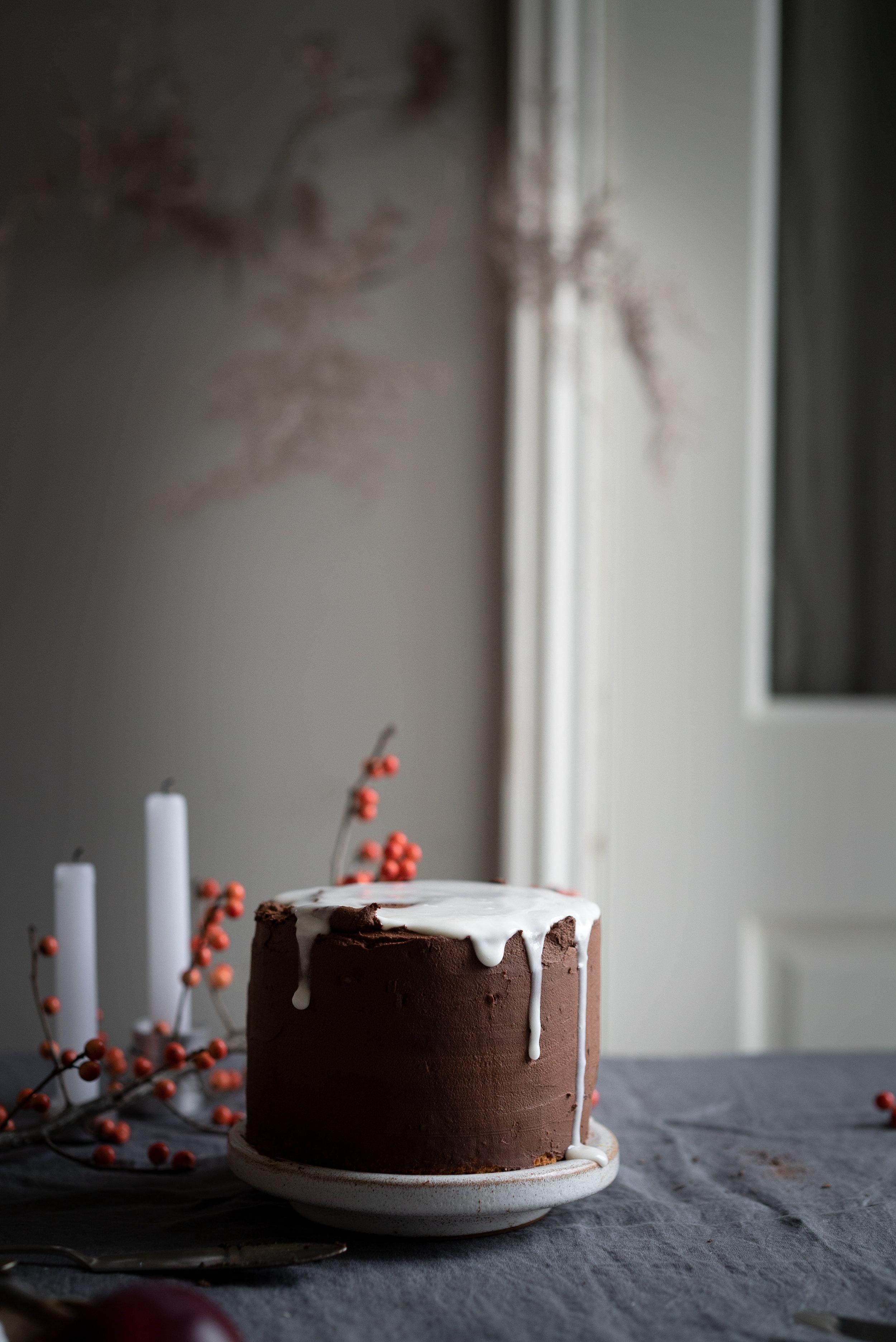 Clementine Triple Chocolate Cake #vegan #gf