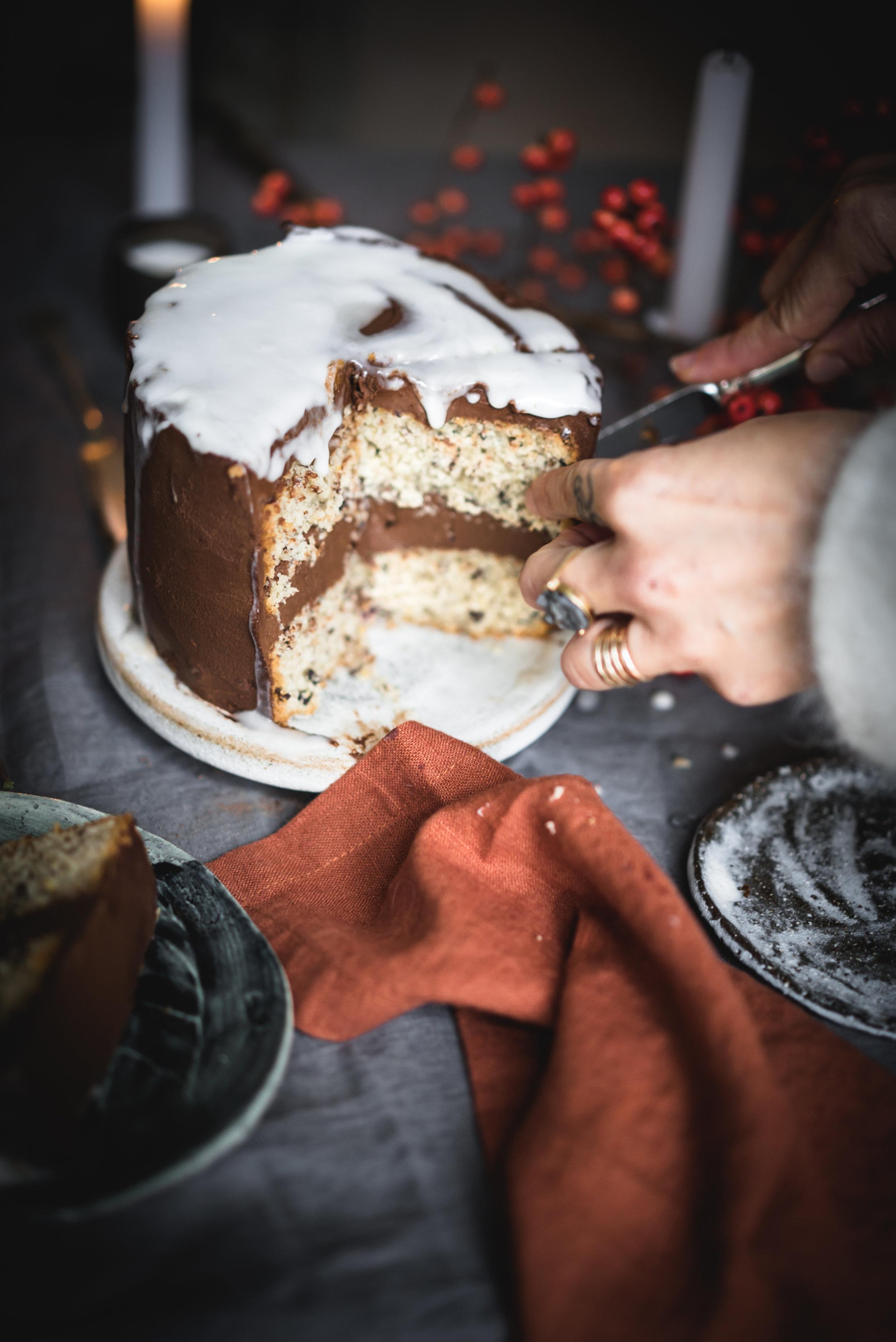 Clementine Scented Triple Chocolate Cake #vegan #nutfree