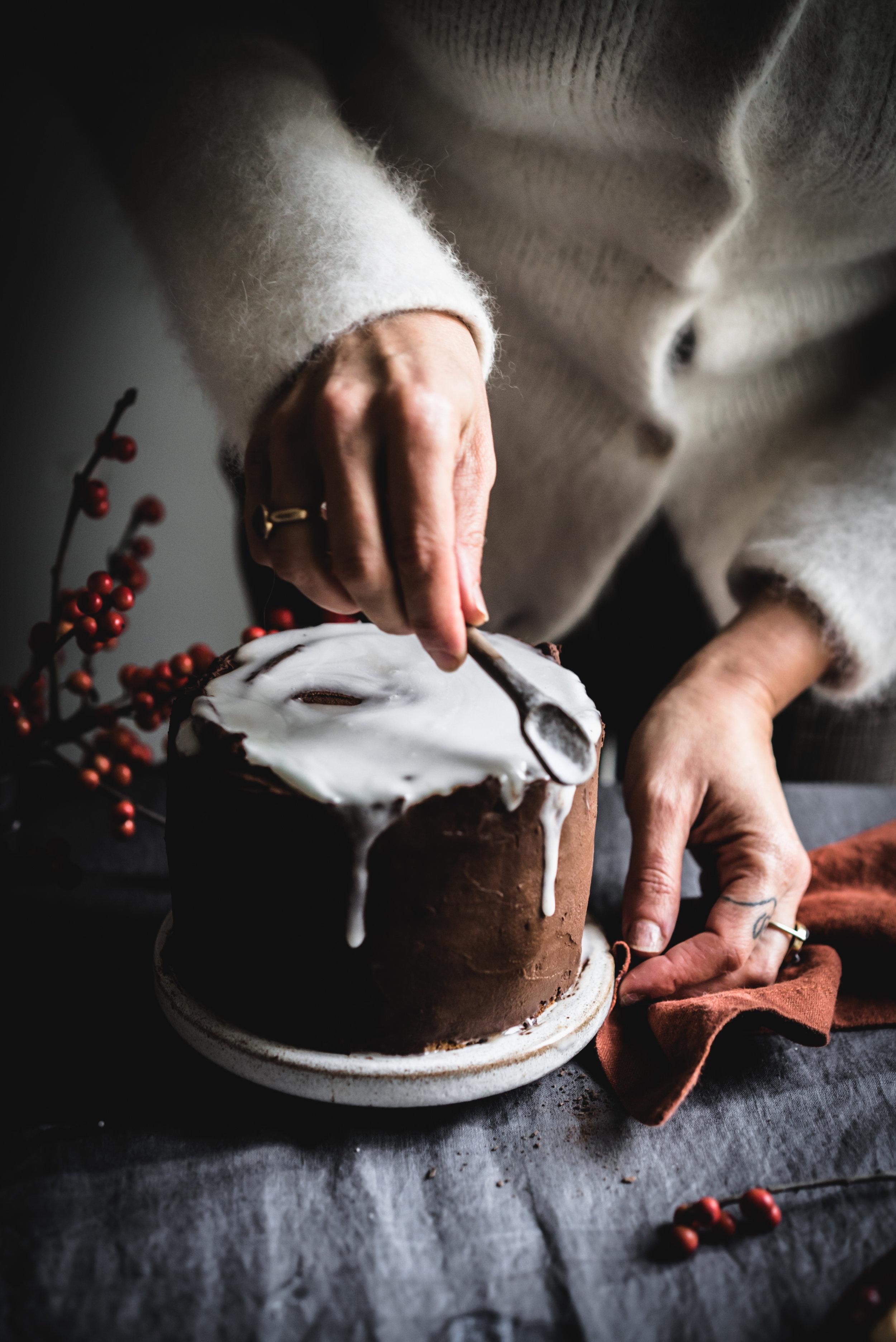 Clementine Triple Chocolate Cake #vegan #nutfree