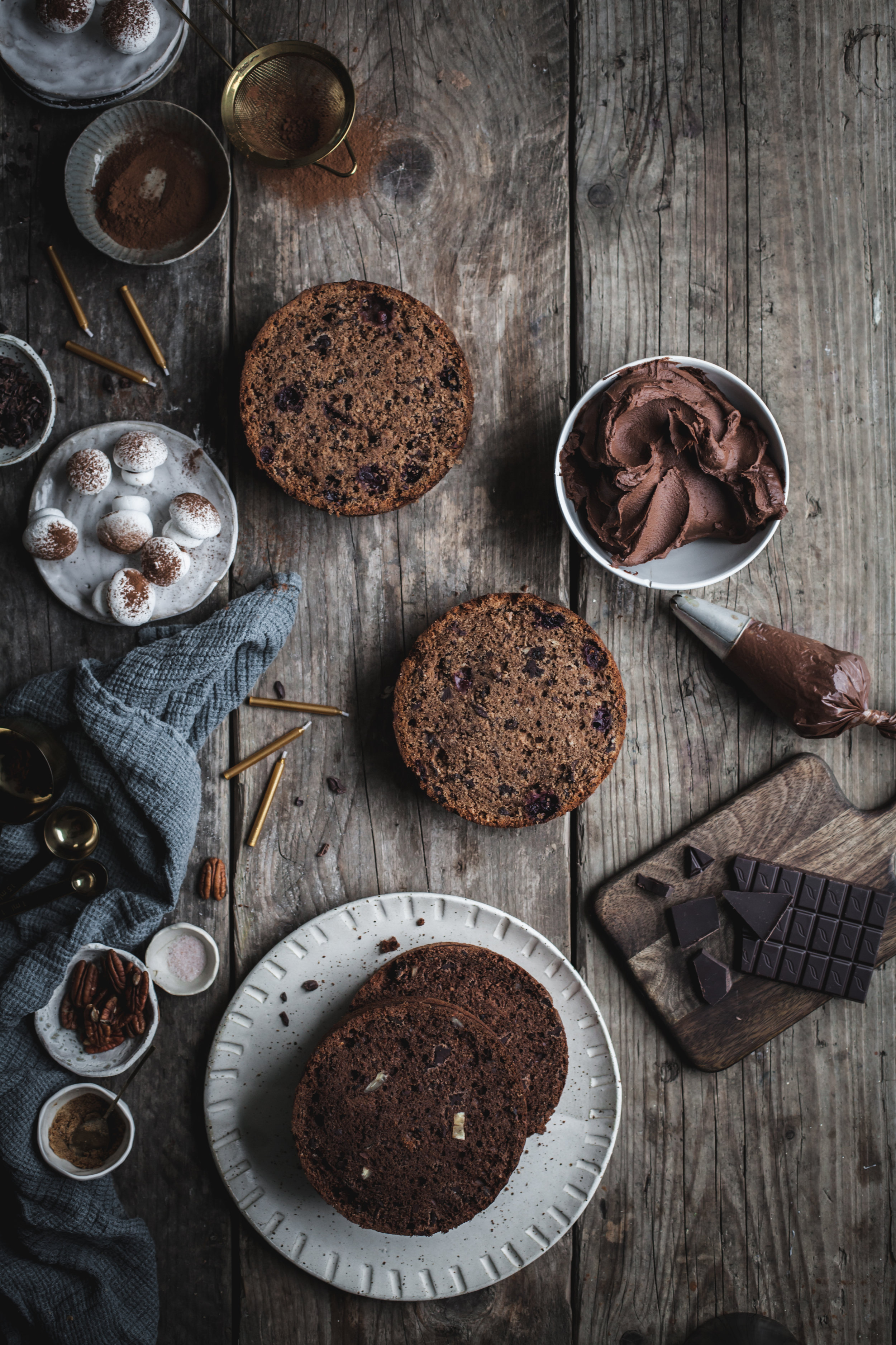 Sour Cherries Triple Chocolate Cake #vegan