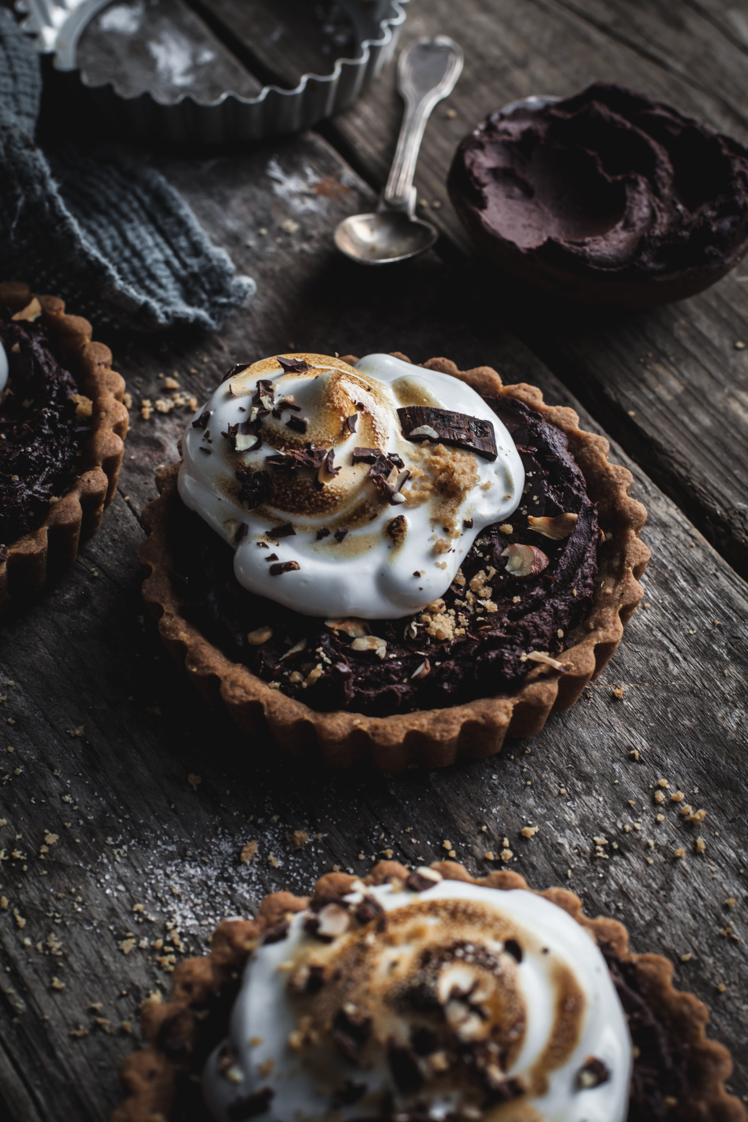 The Most Indulgent Vegan Chocolate Tarts and Thoughts about being a Food Photgrapher on Instagram