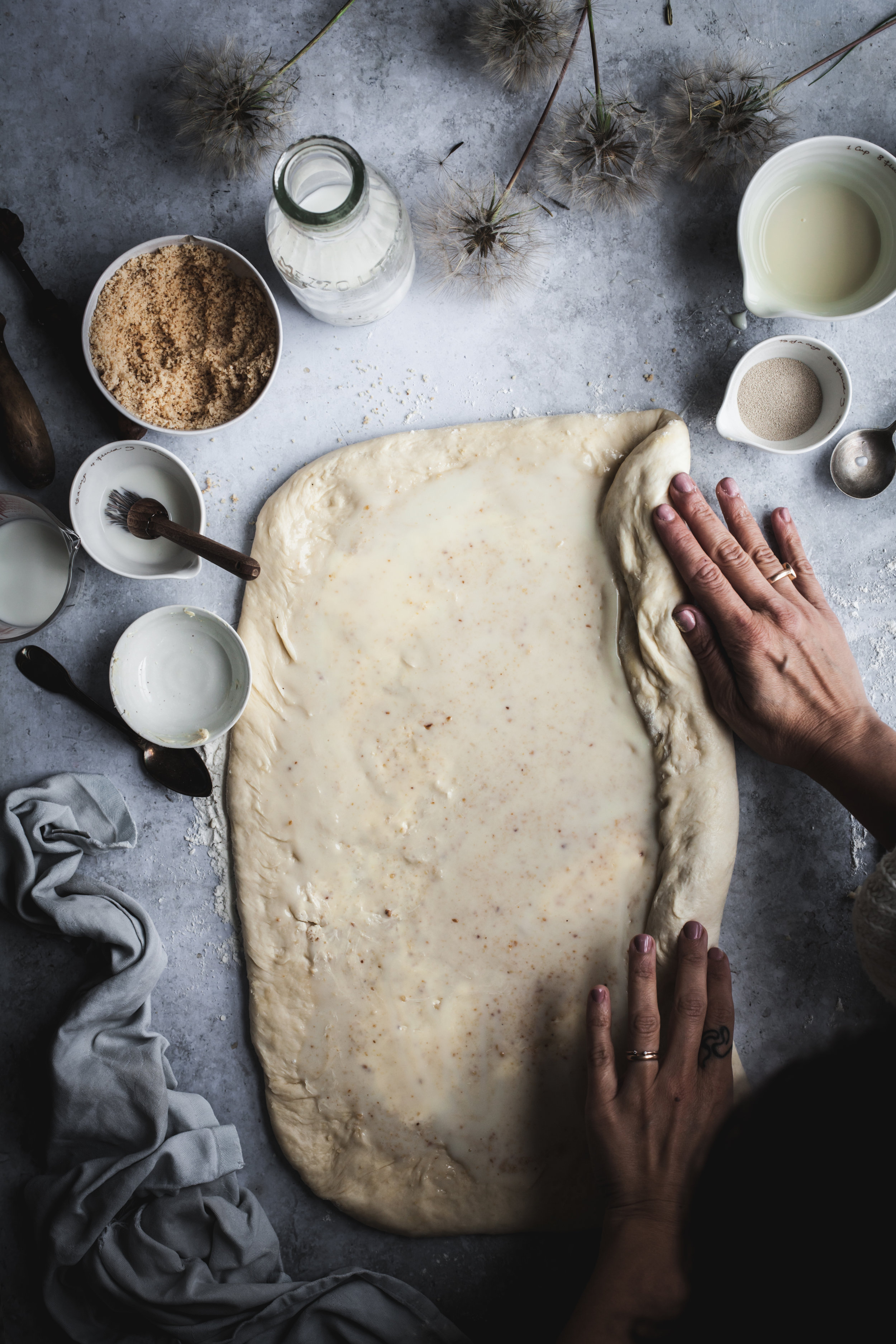 vegan super soft milk bread rolls