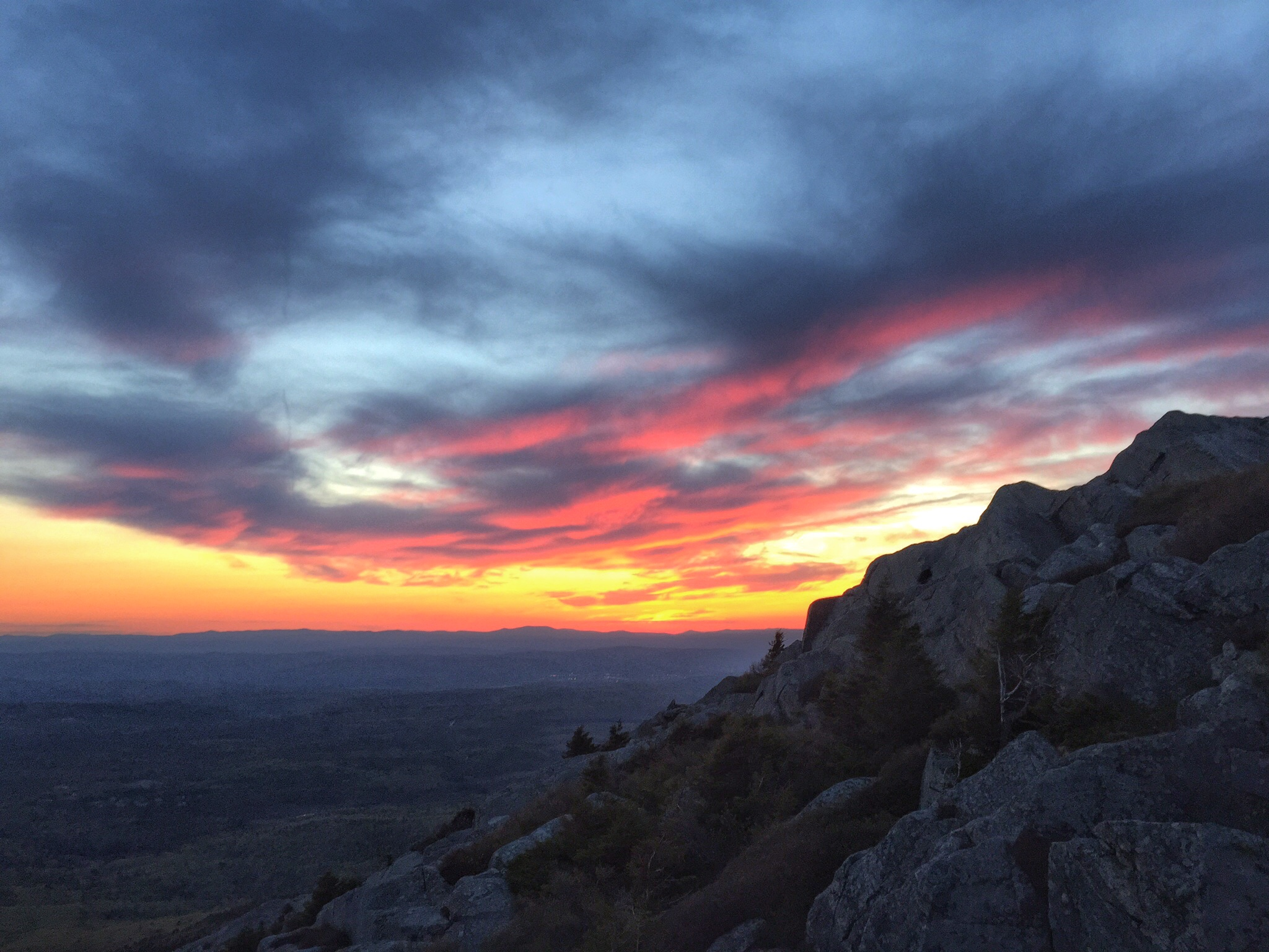 Afterglow on Mount Monadnock 2