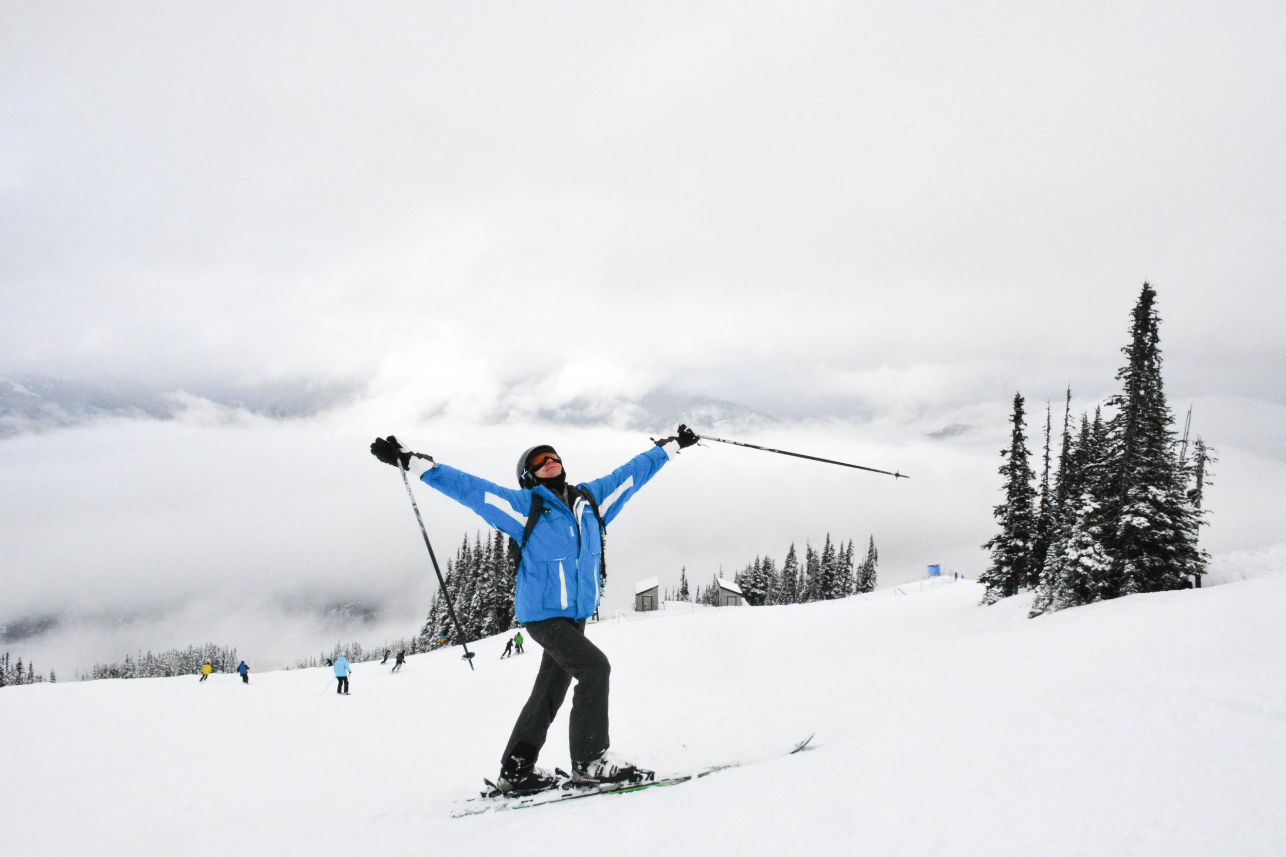 Anton enjoying Whistler's snowy paradise