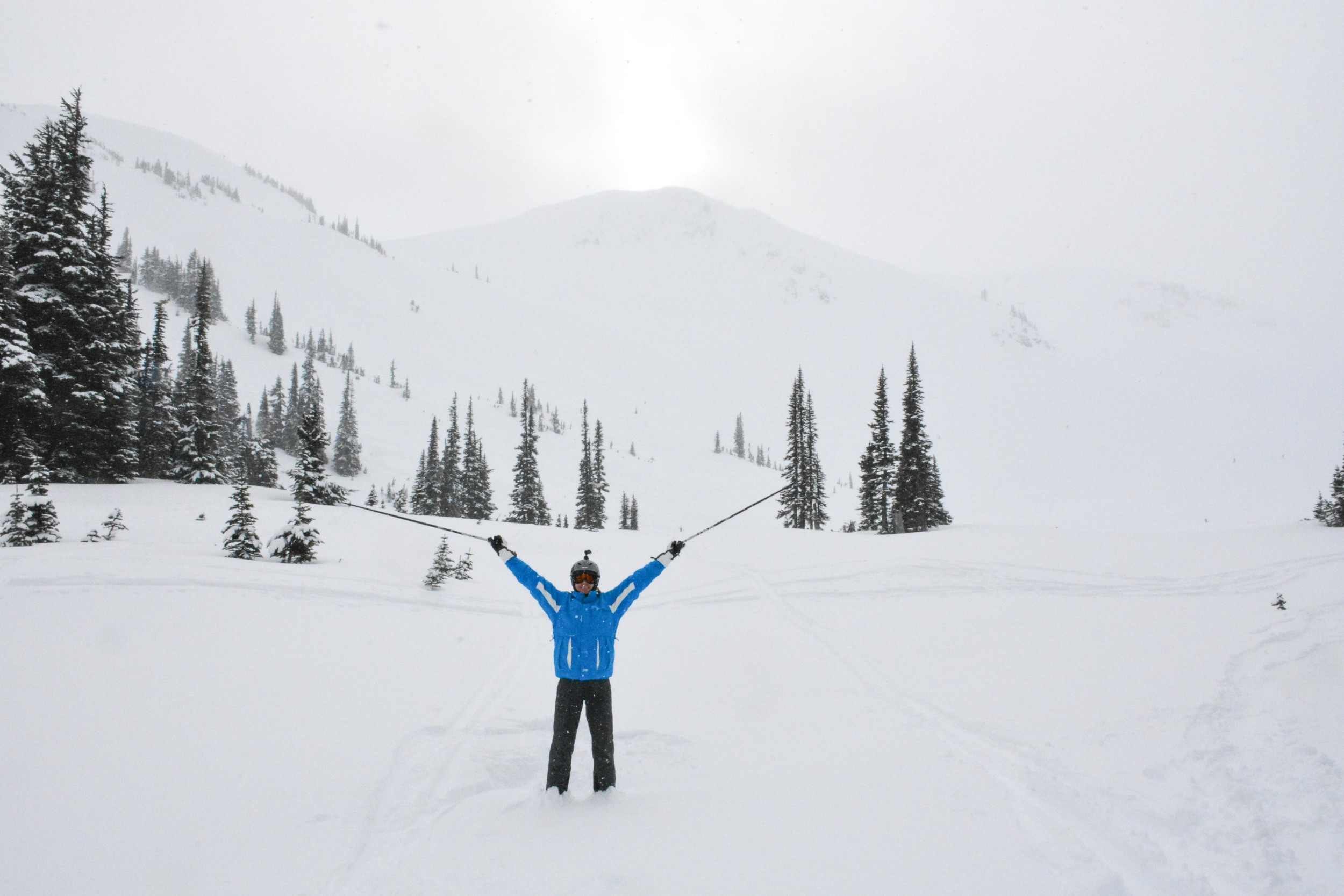 Anton in Deep Powder of Symphony at Whistler